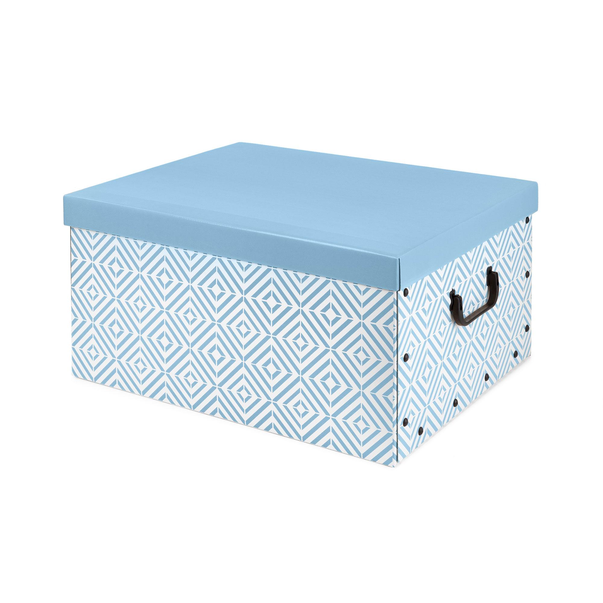 Boîte carton bleue 50x40cm
