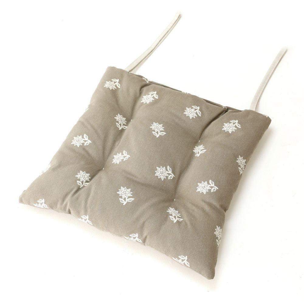 Galette de chaise style montagne Edelweiss