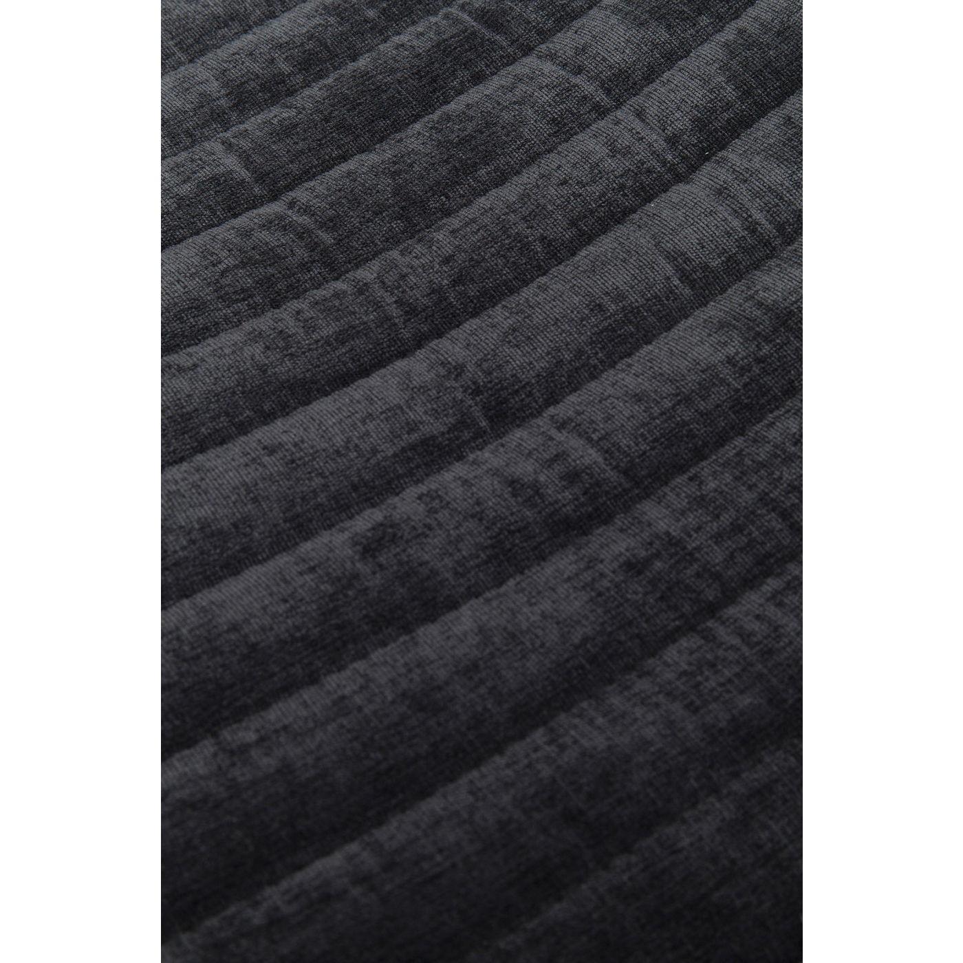 Chaise en tissu noir et acier doré