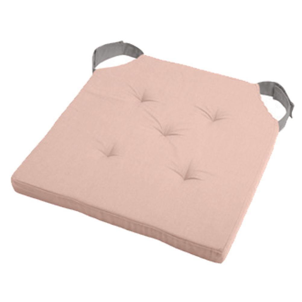 Coussin de chaise attaches scratchs poudre et gris 38x38