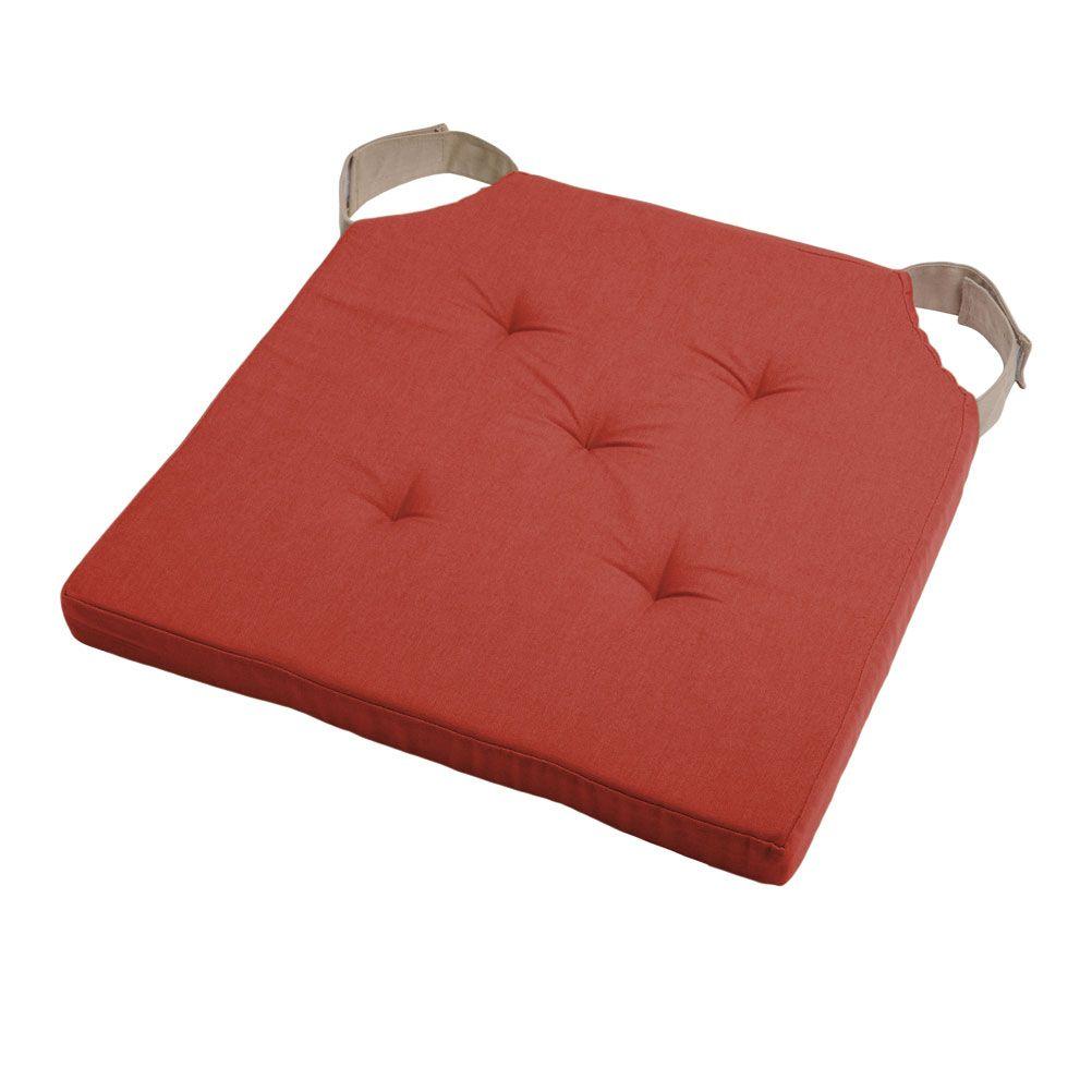 Coussin de chaise attaches scratchs terracotta 38x38