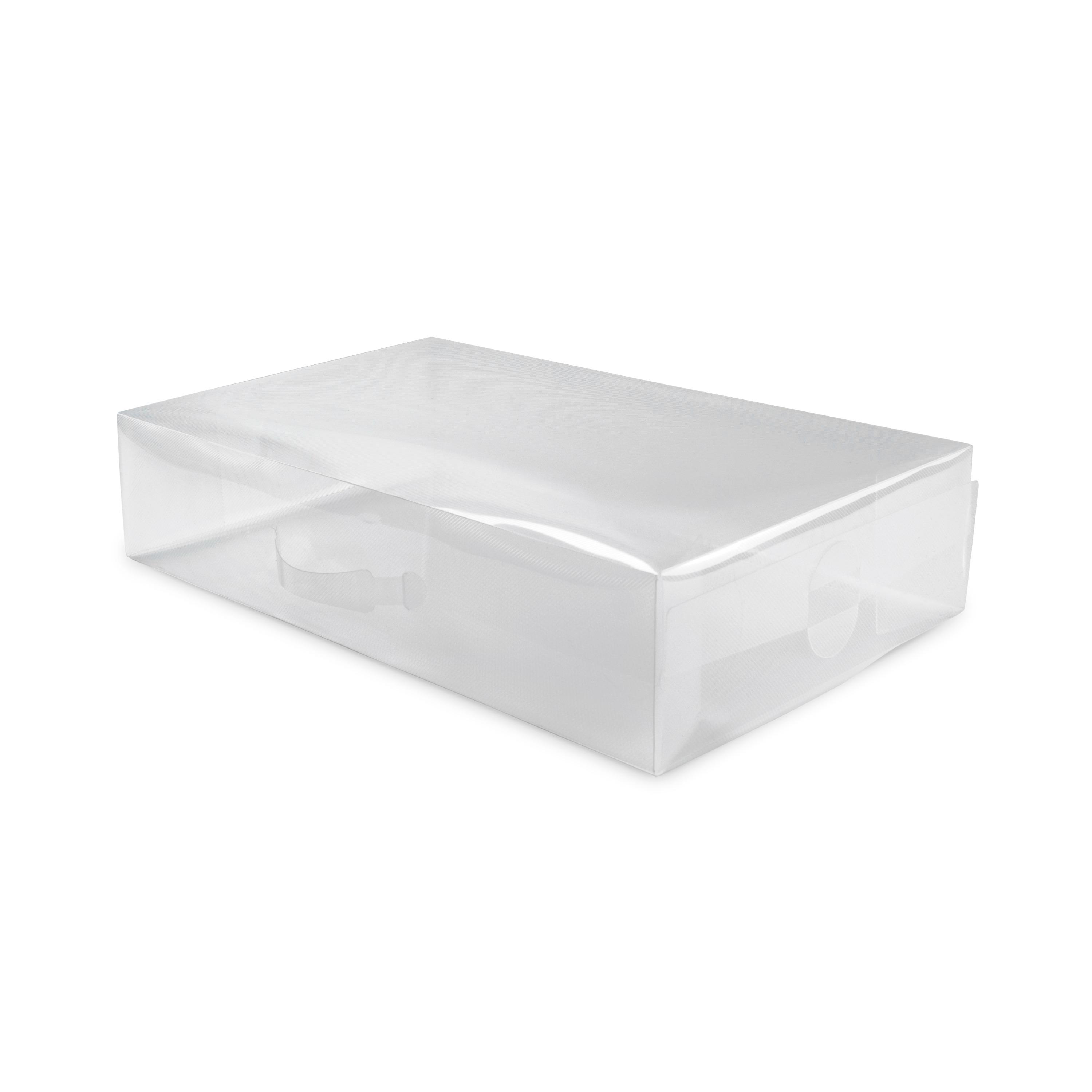 Boîte chaussures transparente 52x30cm