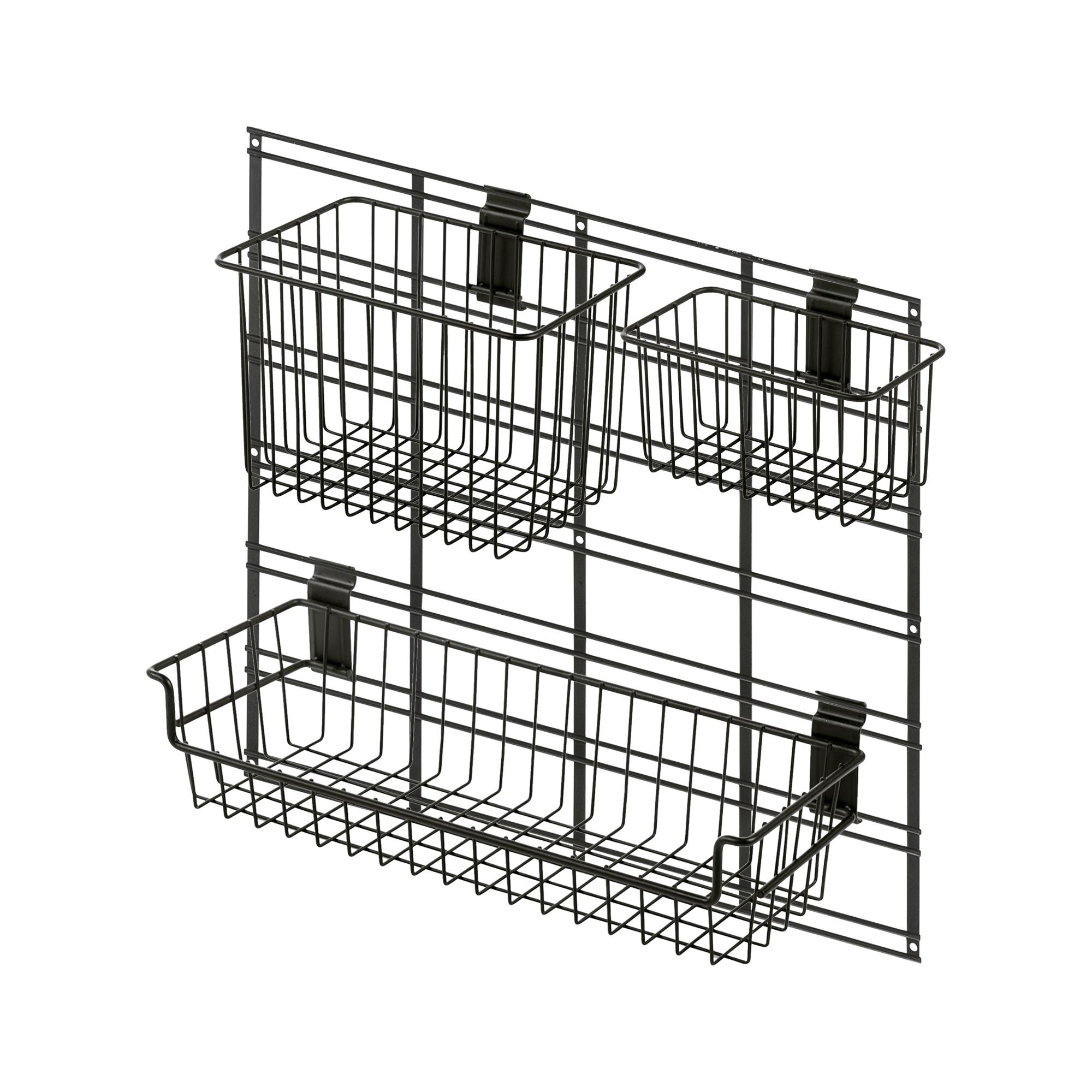 Kit grille + 3 paniers 53,4x48,3cm (photo)