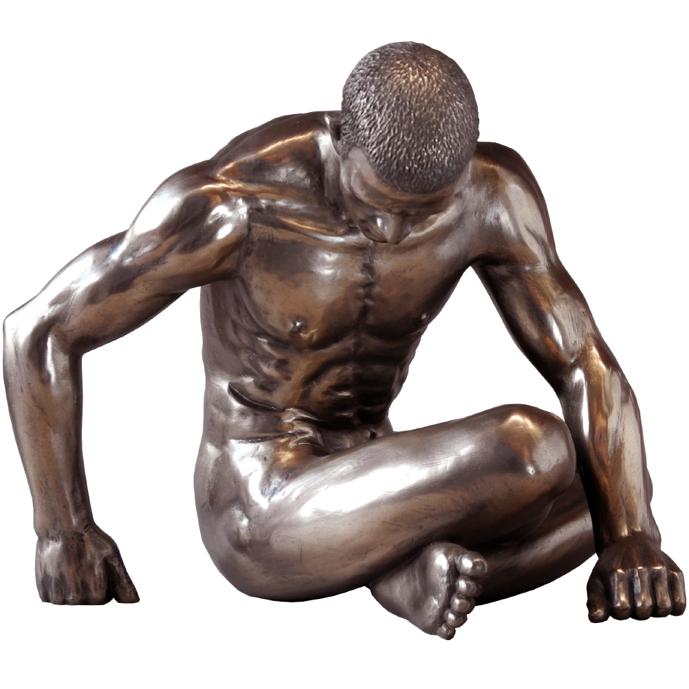Statuette en résine homme nu H16cm