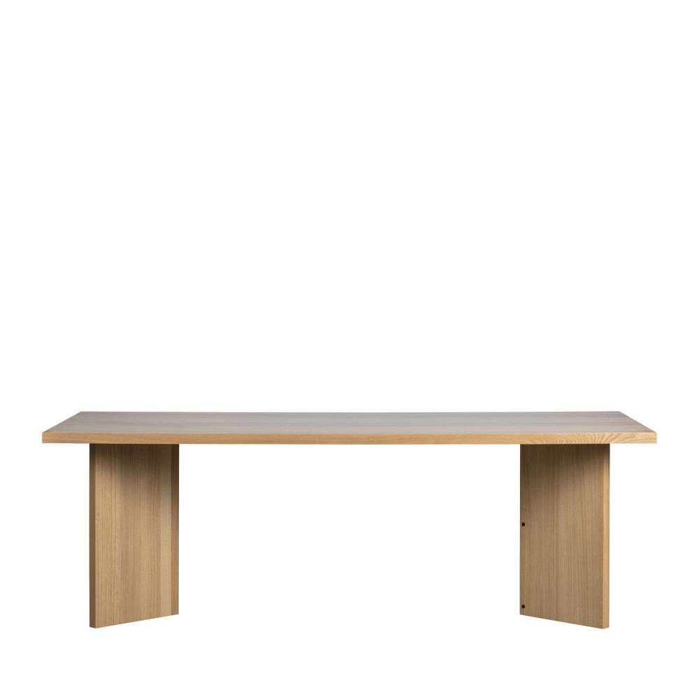 Table à manger en bois 90x220cm bois clair