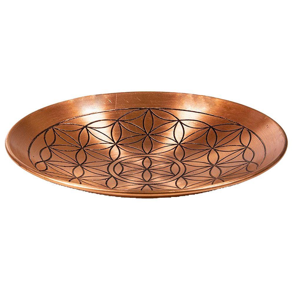 Assiette déco de cuivre D15cm