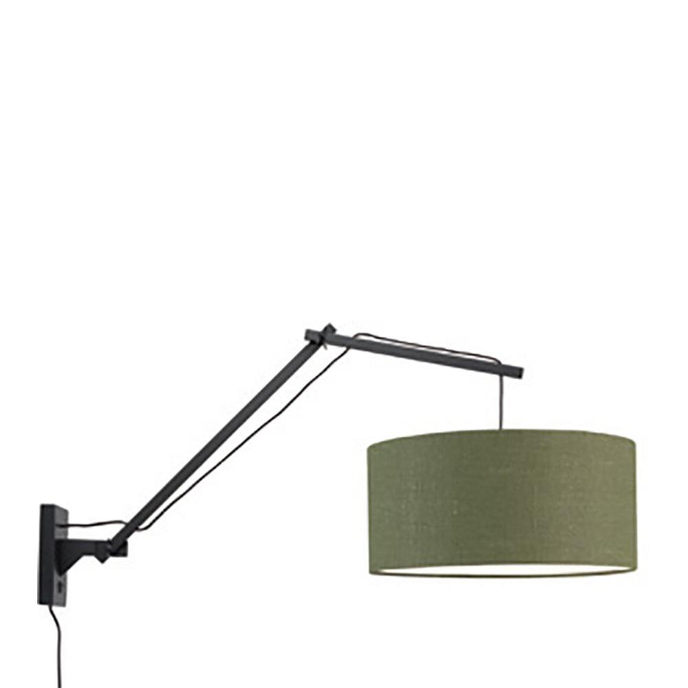Applique bambou noir/lin L95cm