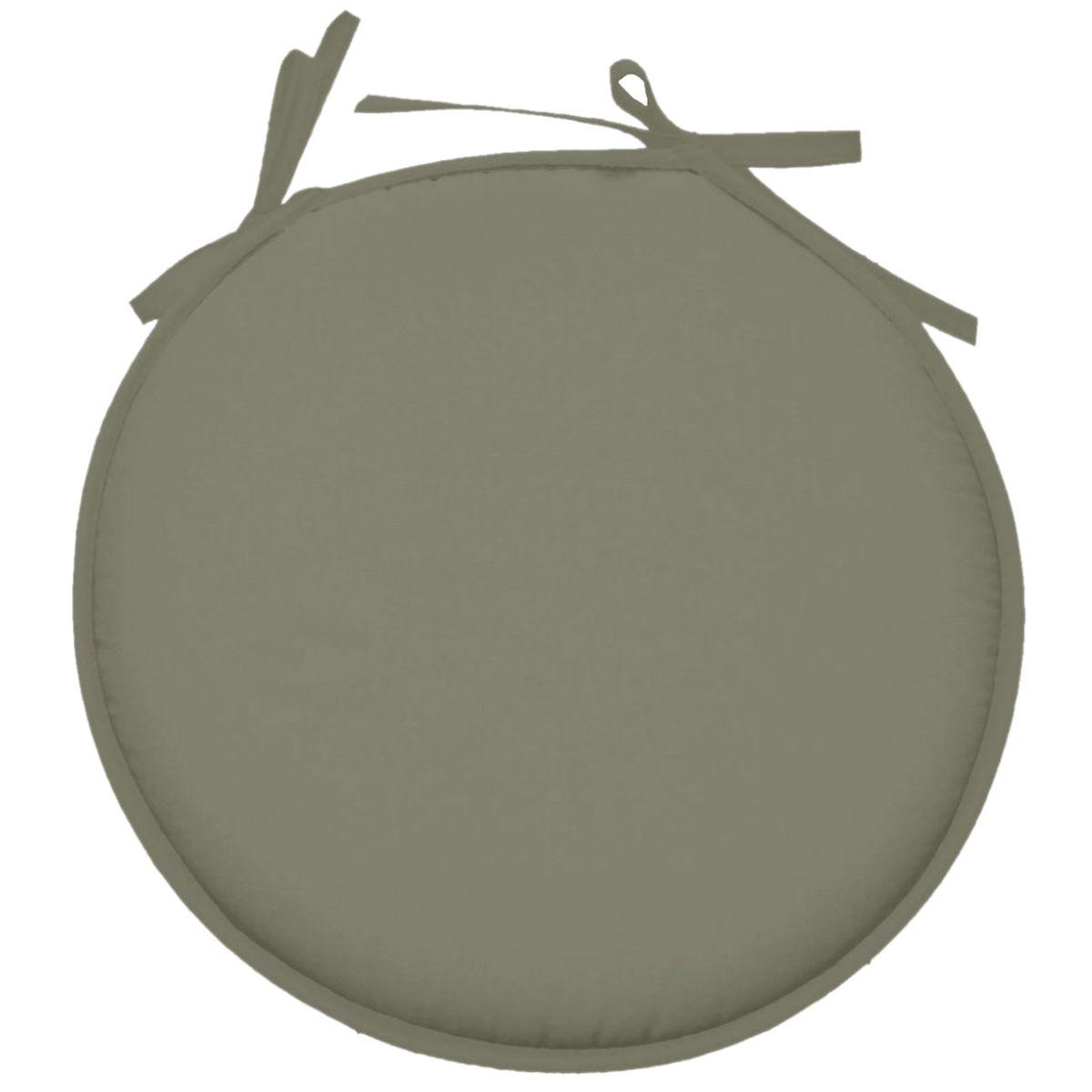Galette de chaise polyester gris souris D40cm