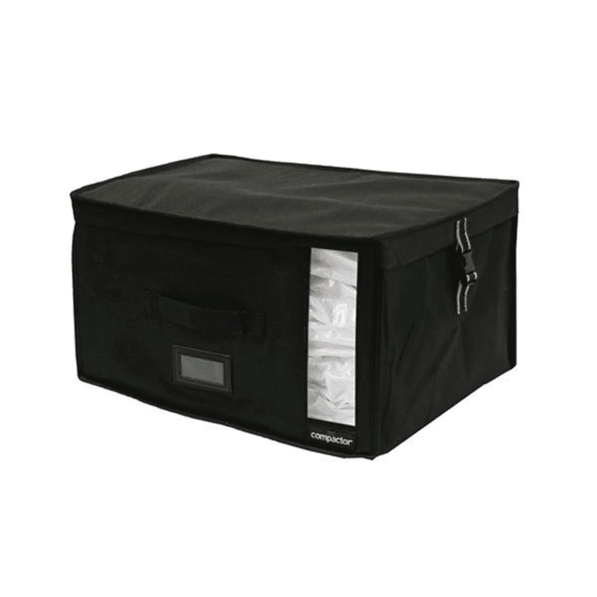 Coffre de rangement sous vide noir 42x42cm