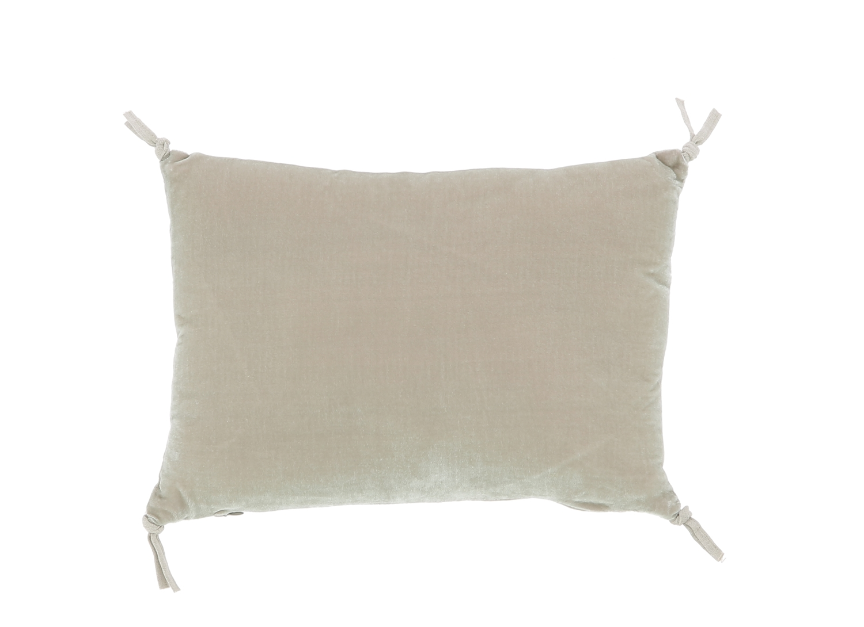 Coussin 25x35 cm en velours de soie beige