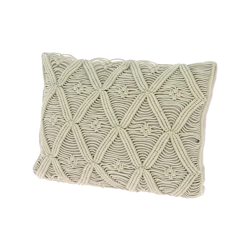 Coussin 35x50 cm en coton zip ficelle
