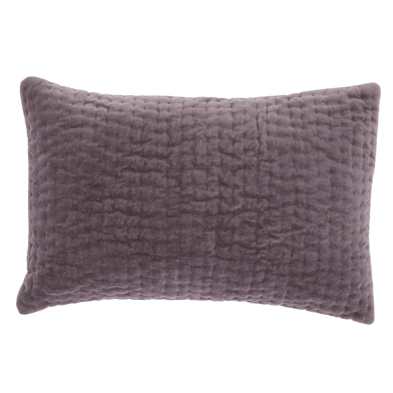 Coussin en velours de coton 30x45 cm violette