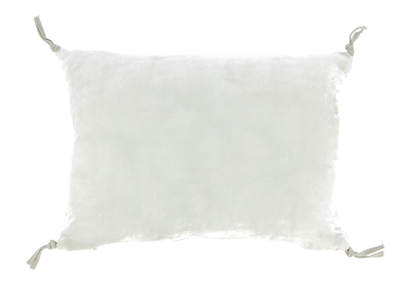 Coussin 25x35 cm en velours de soie perle