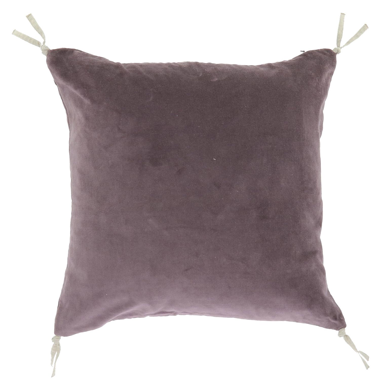 Coussin en velours de coton 45x45 cm violette
