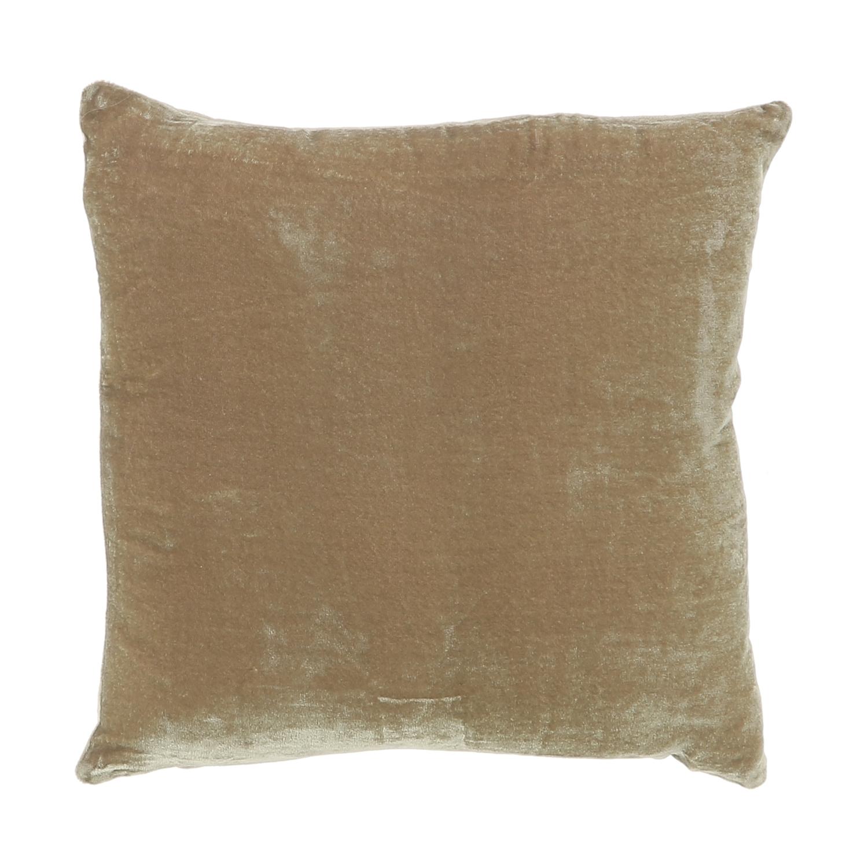Coussin 30x30 cm en velours de soie taupe
