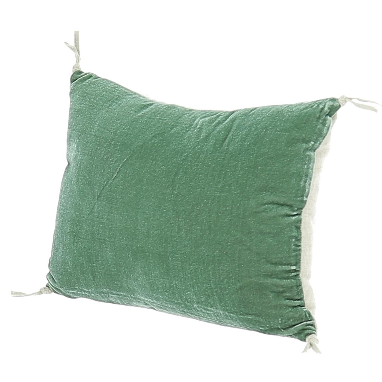 Coussin 25x35 cm en velours de soie céladon