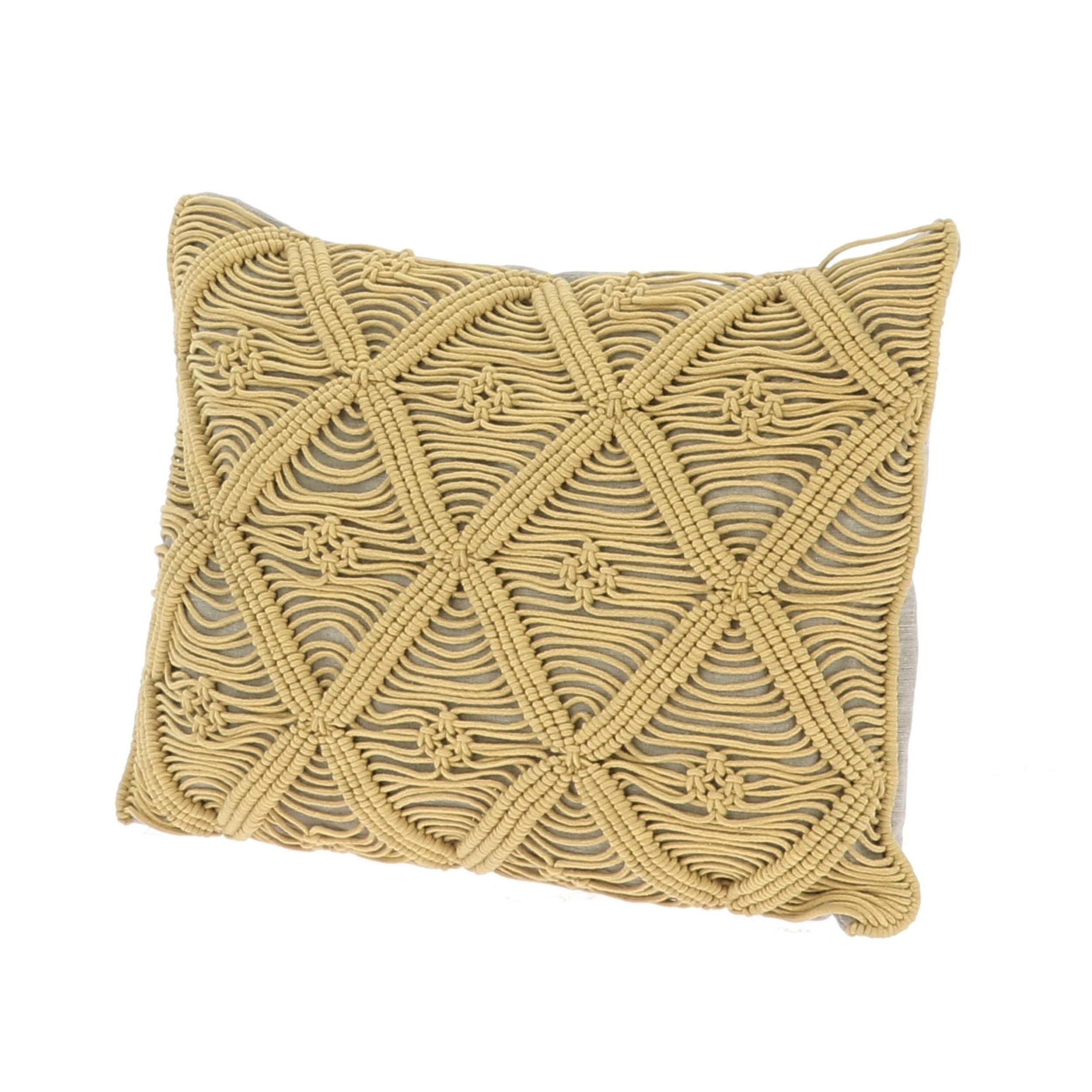 Coussin 35x50 cm en coton zip ocre