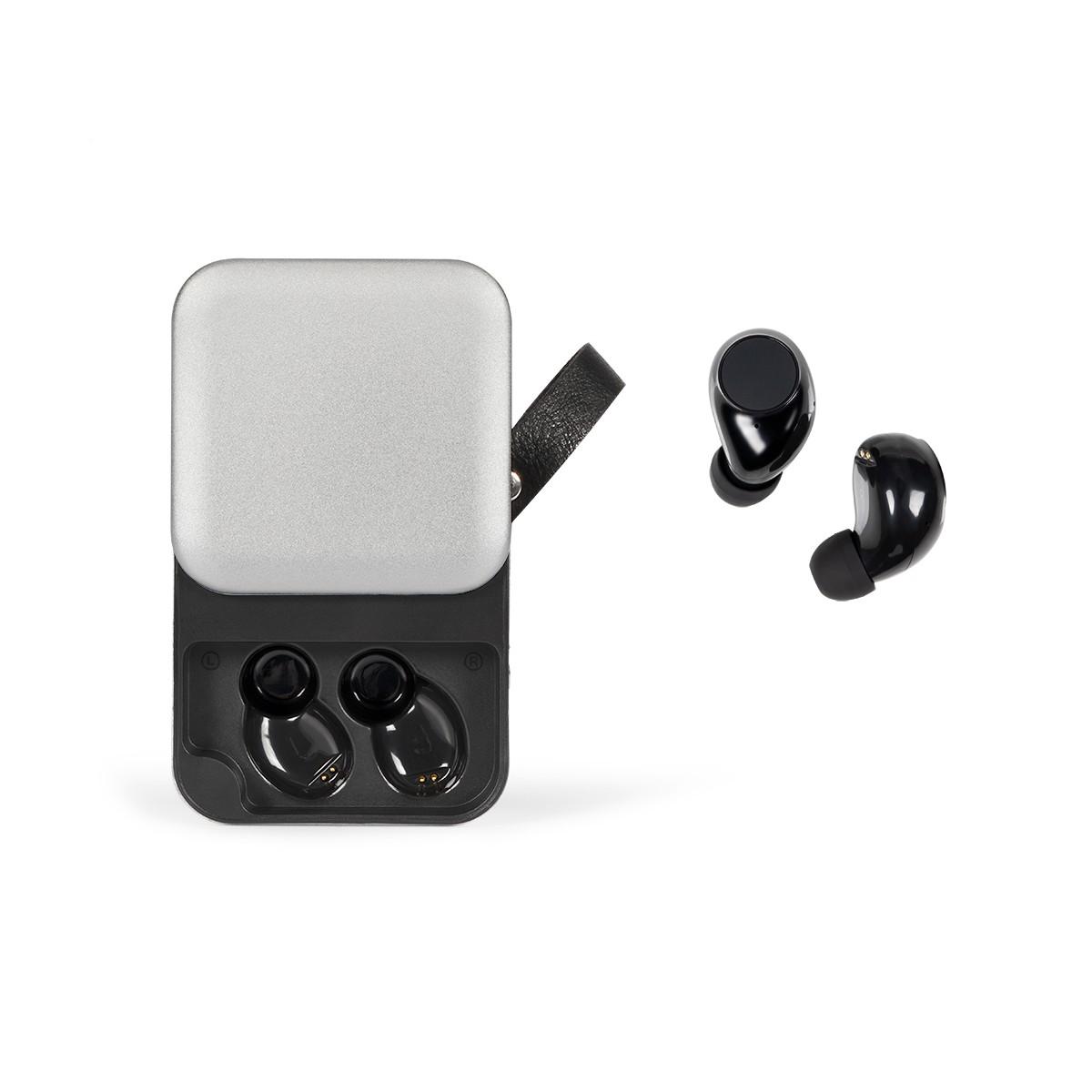Écouteurs compatibles Bluetooth en ABS argent