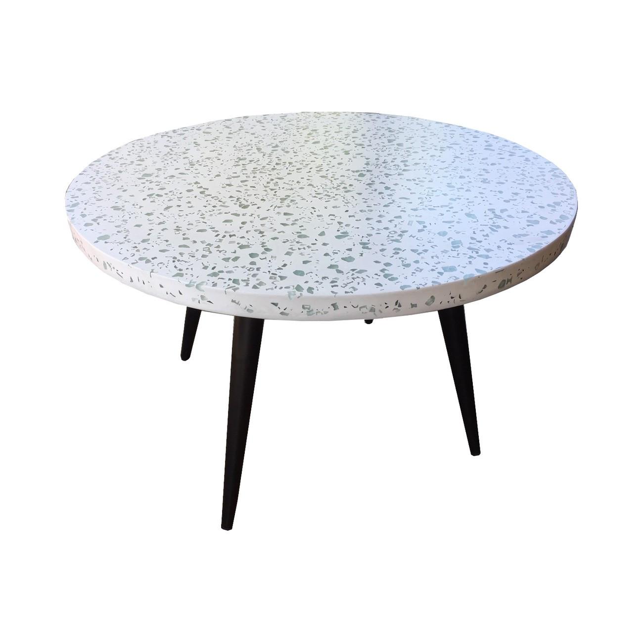 Table basse terrazzo blanc L70