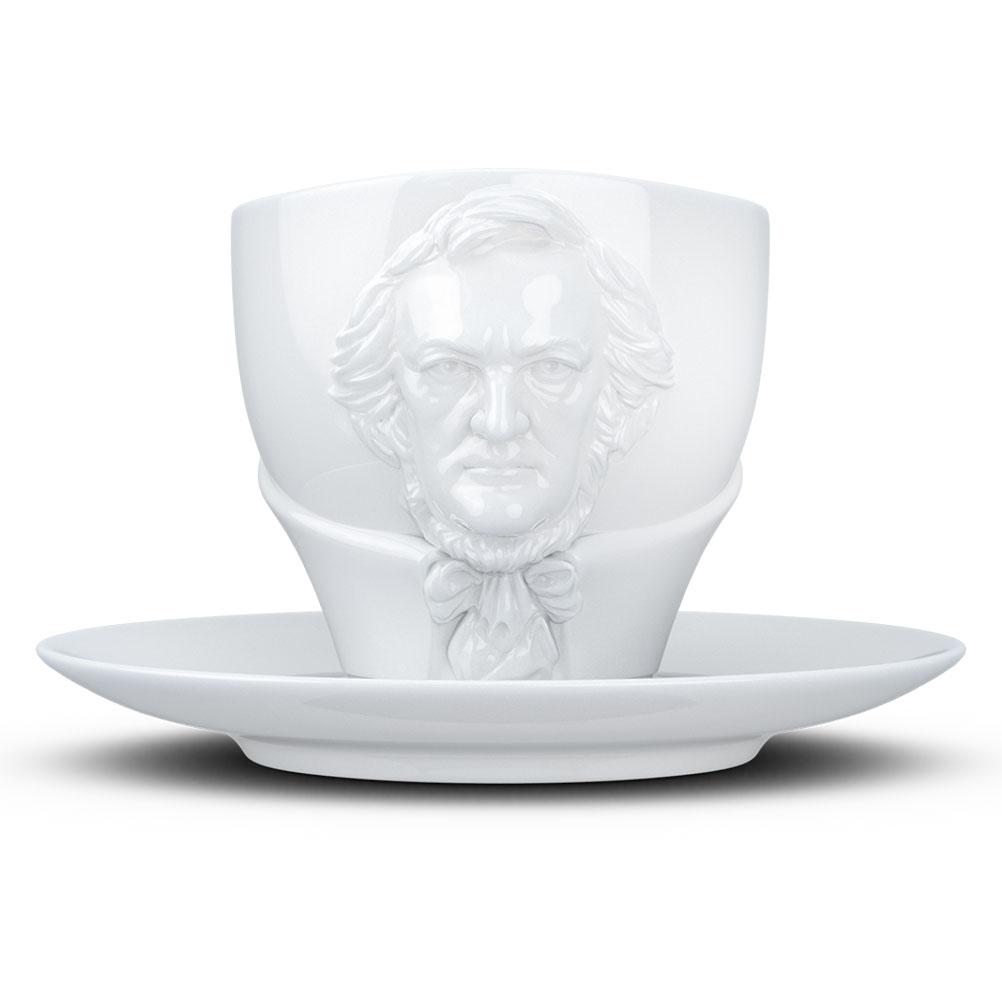 Tasse et sous tasse Richard Wagner en porcelaine 260ml