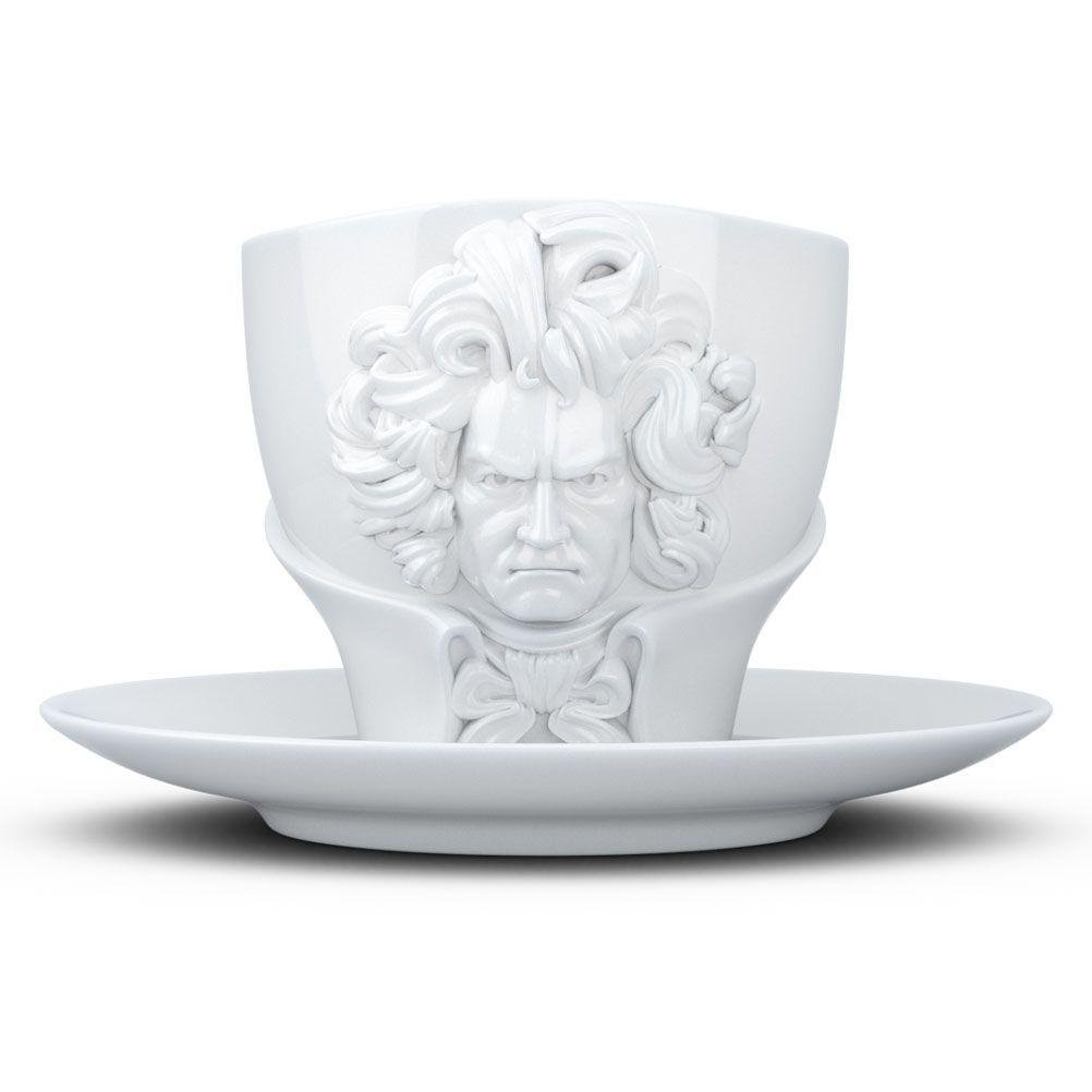 Tasse et sous tasse Beethoven en porcelaine 260ml