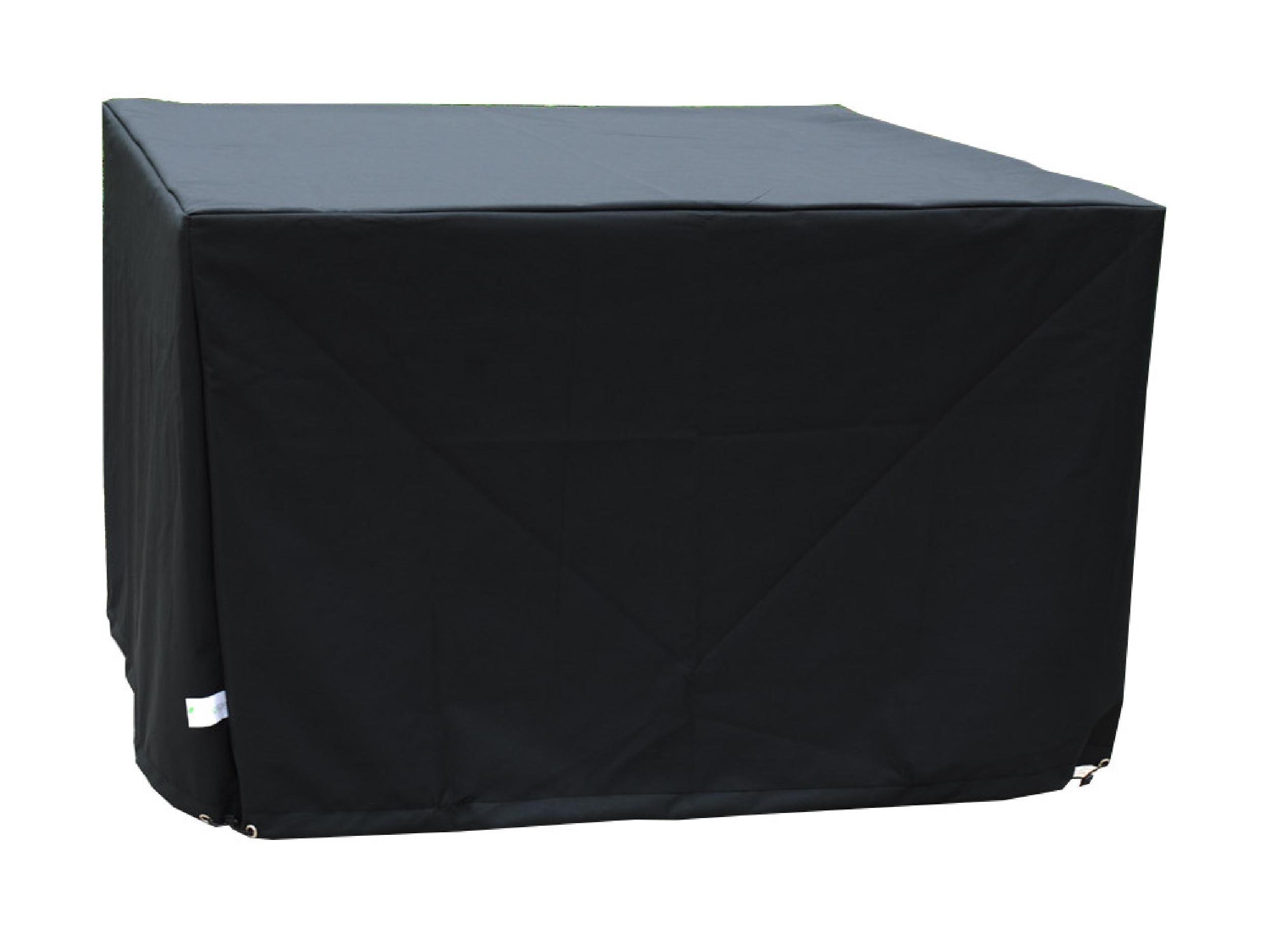 Housse de protection pour table de jardin 4 places en polyester noir