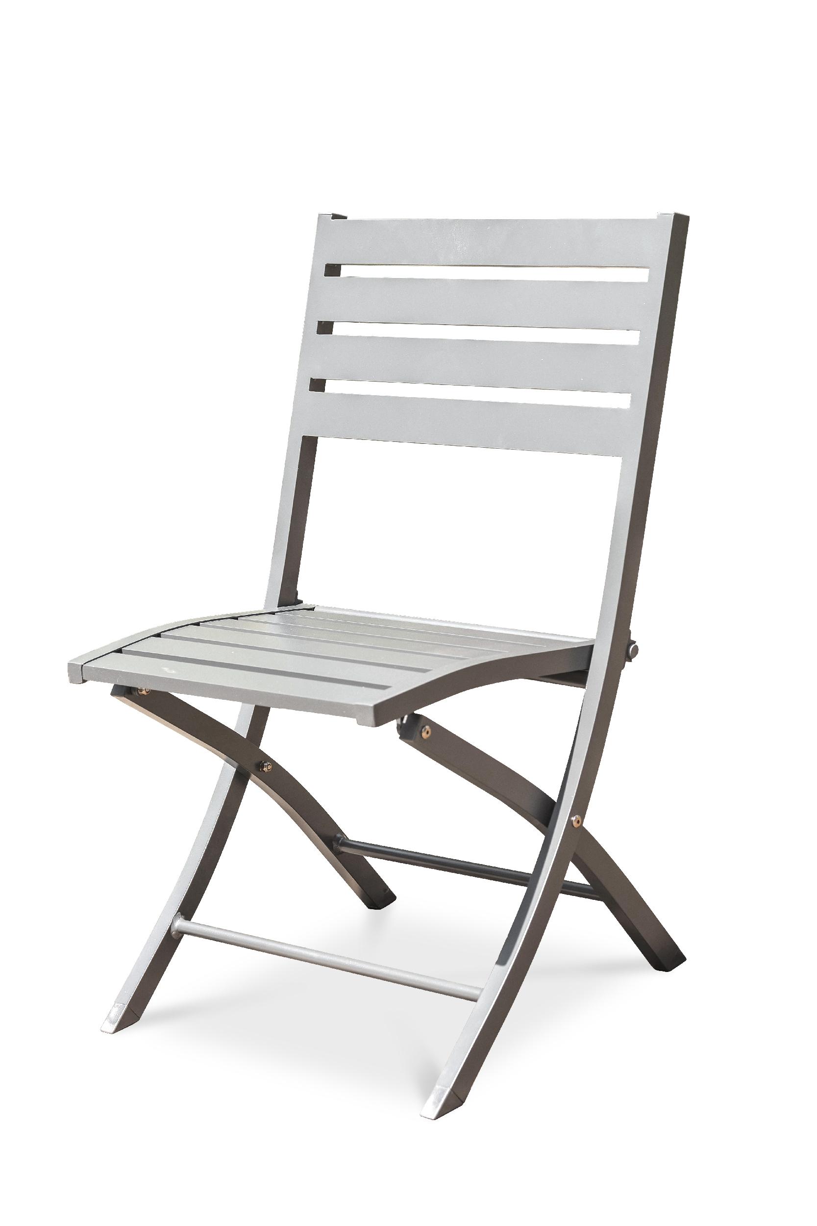 Chaise de jardin en aluminium gris