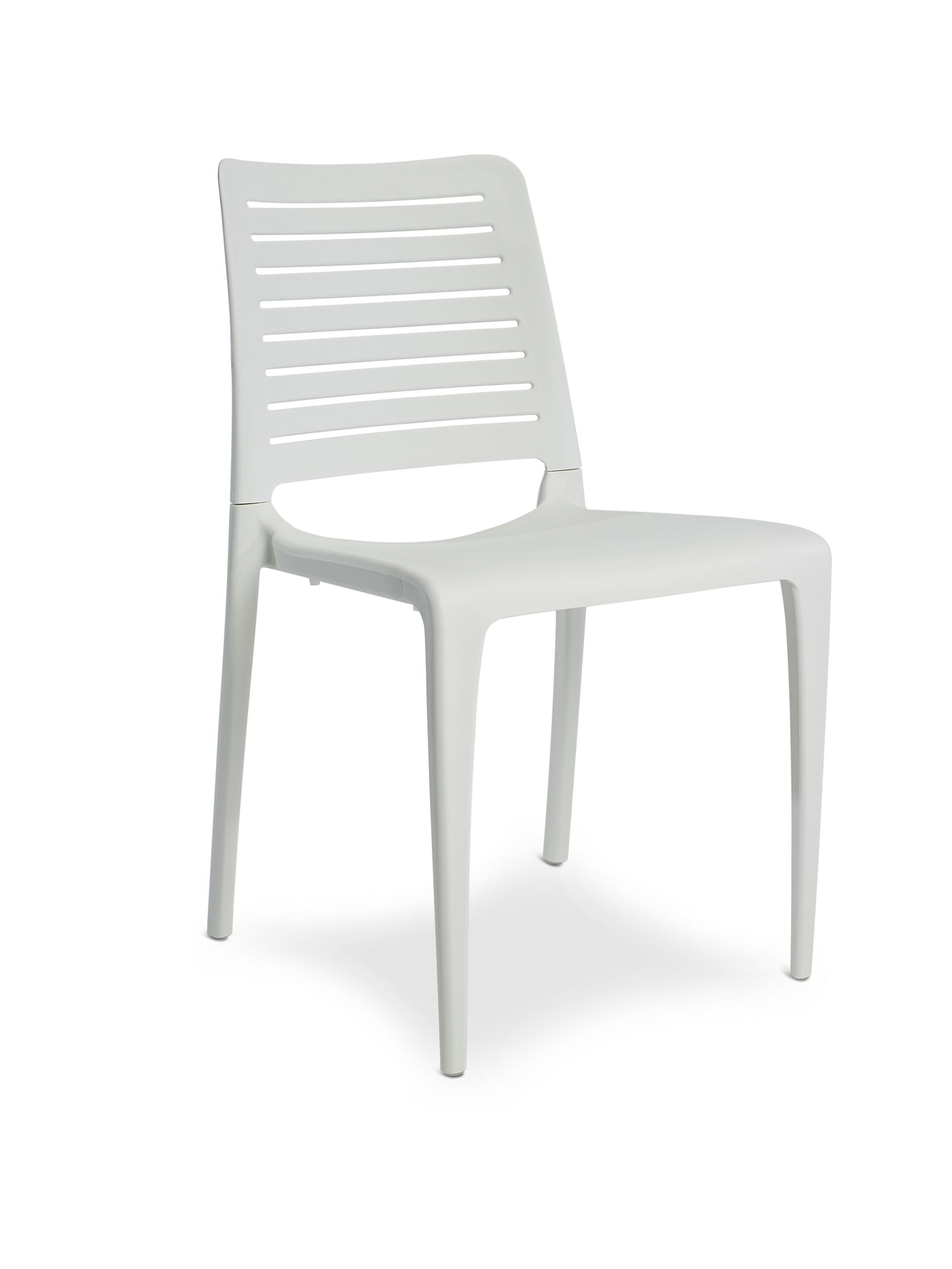 Chaise de jardin en polypropylène renforcé blanc