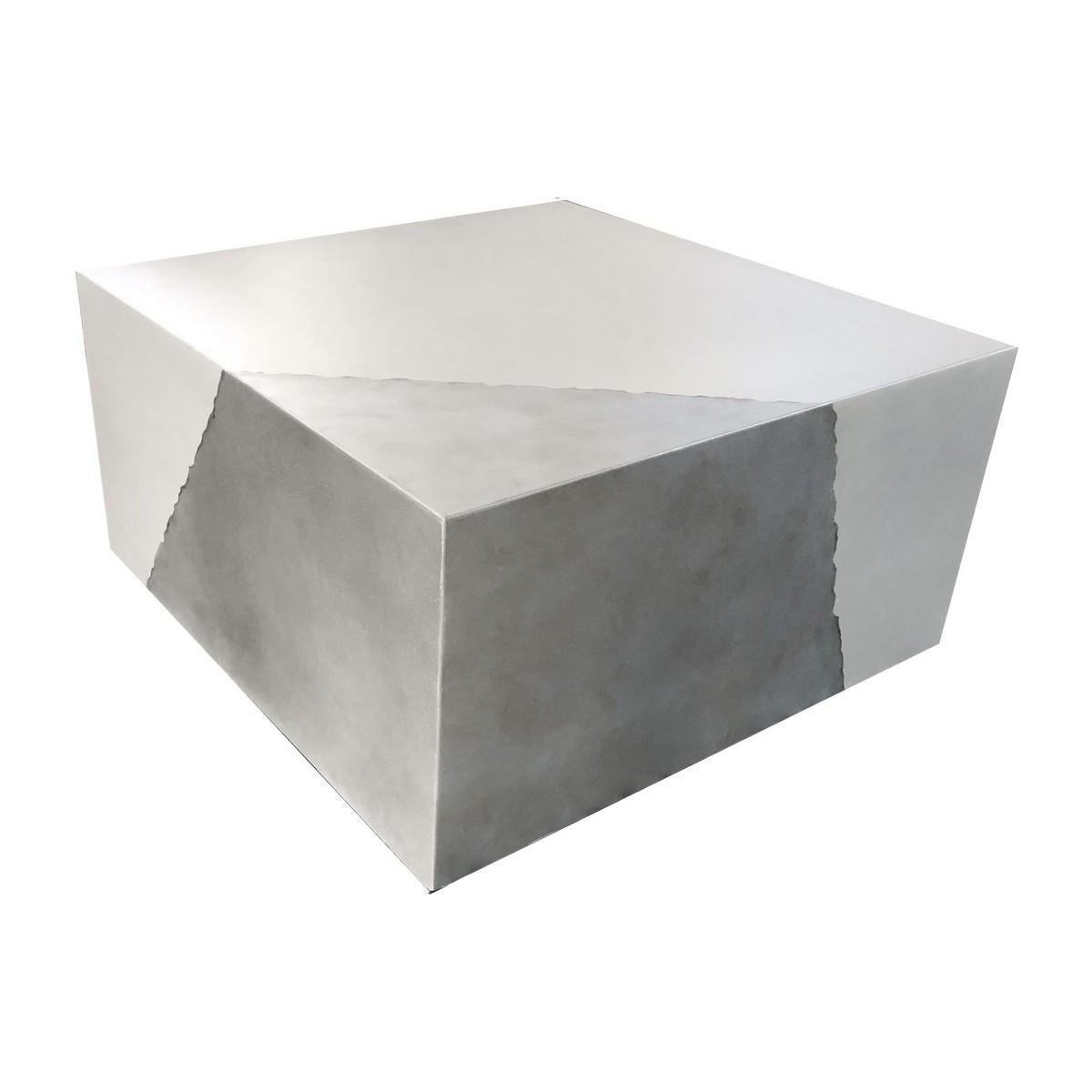 maison du monde Table basse béton blanc et argent