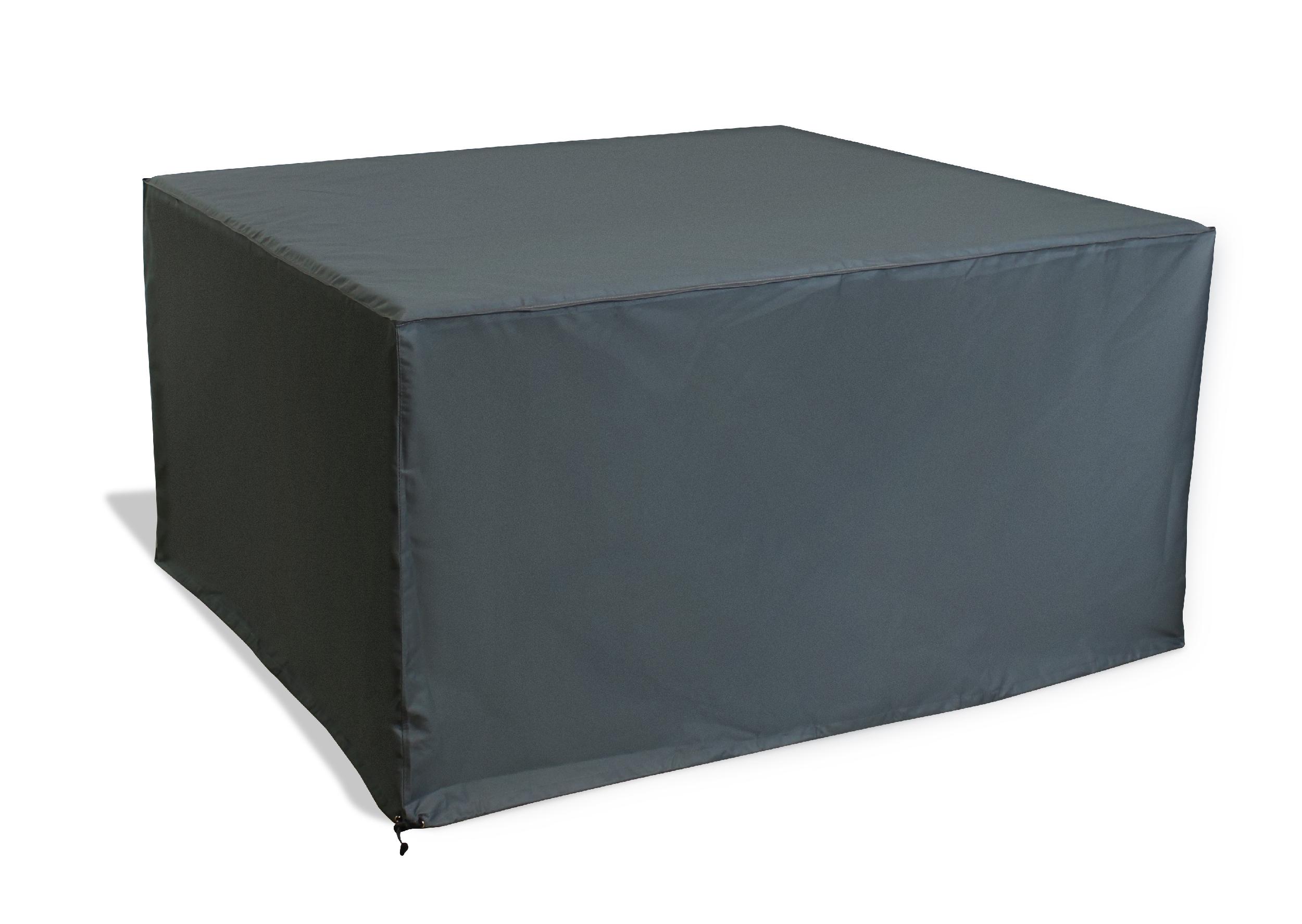 Housse de protection pour table de jardin en polyester gris
