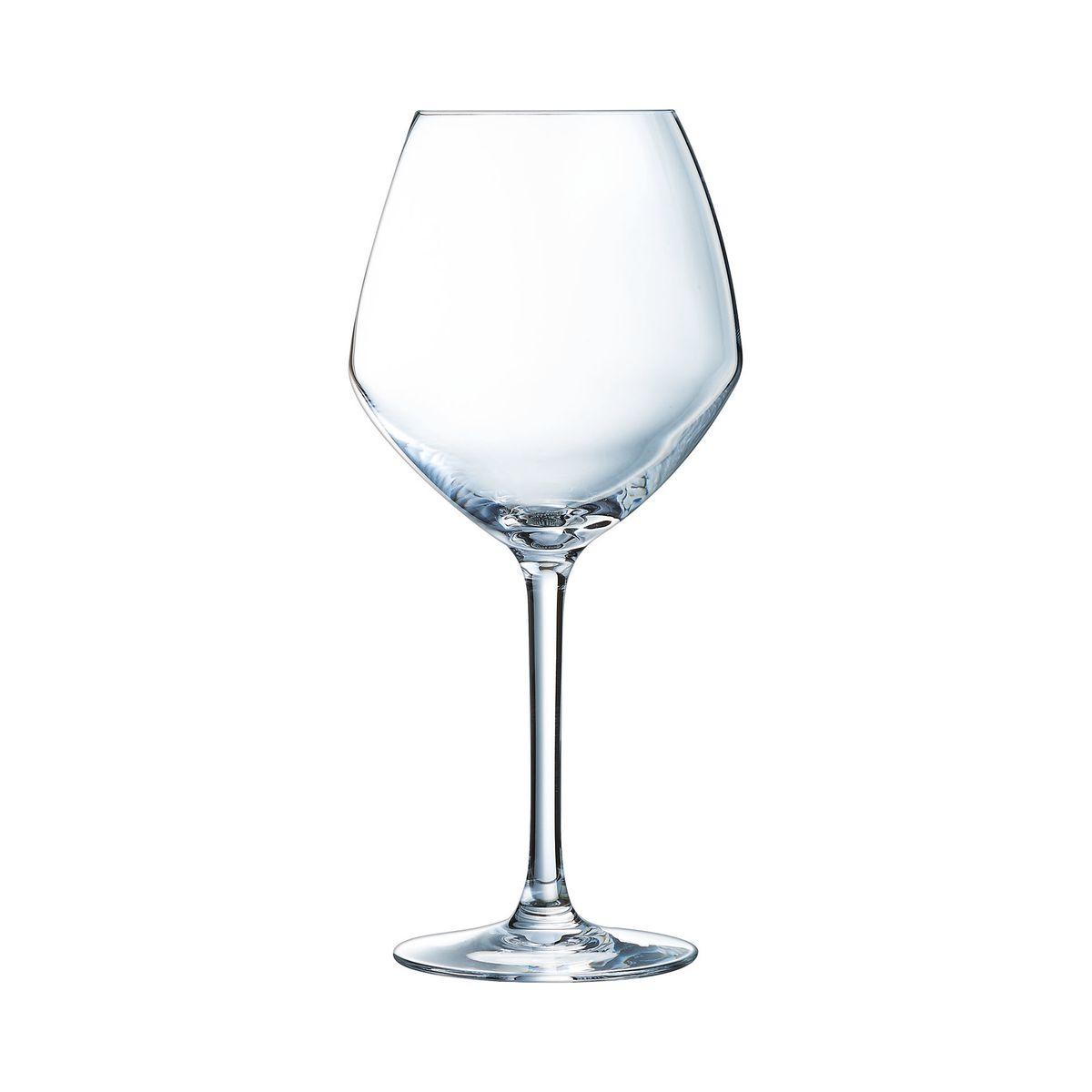 6 verres à pied 58cl