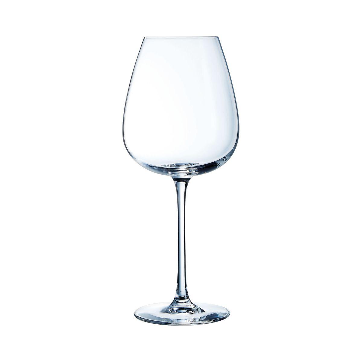 6 verres à pied 62cl