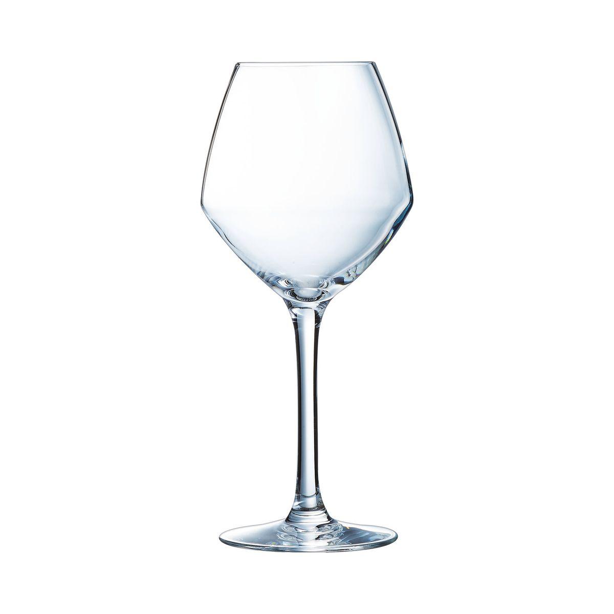 6 verres à pied 35cl