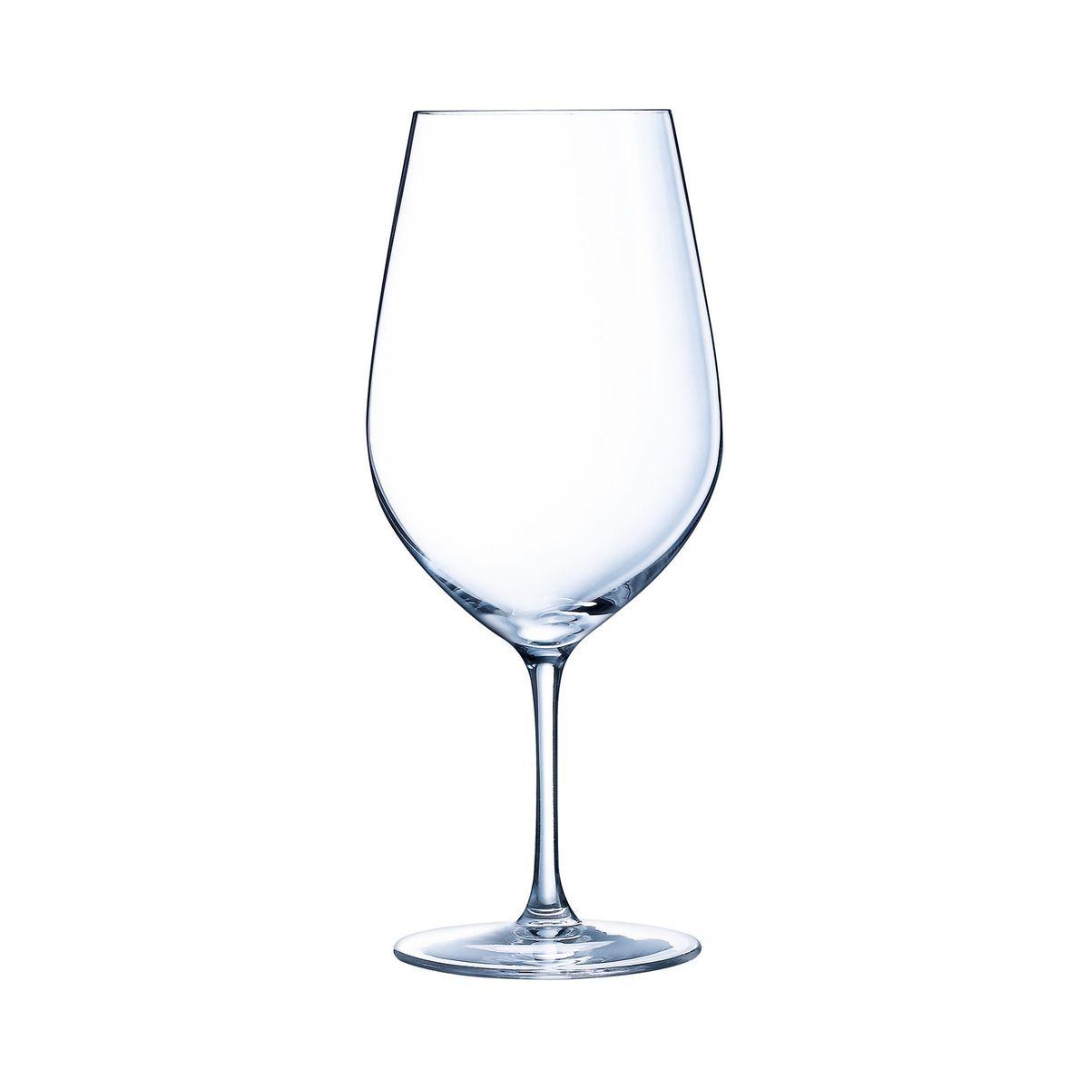 6 verres à pied 74 cl