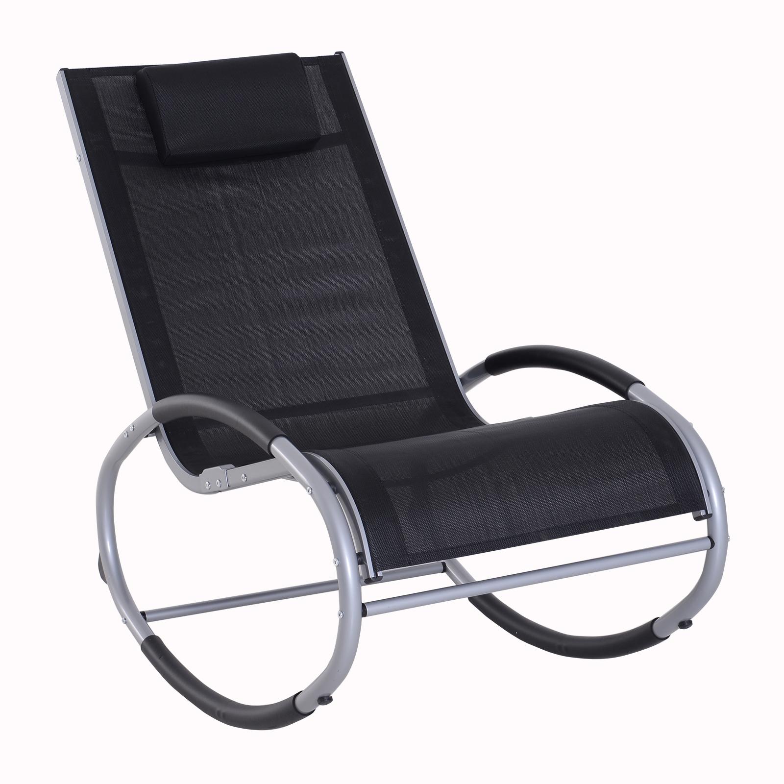 Fauteuil chaise longue à bascule design contemporain