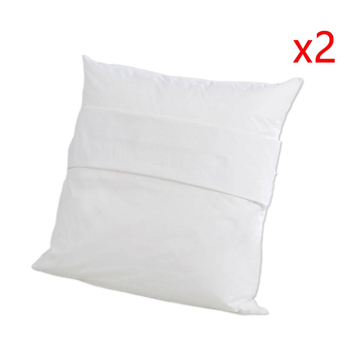 Lot de 2 protège oreillers 60x60 cm