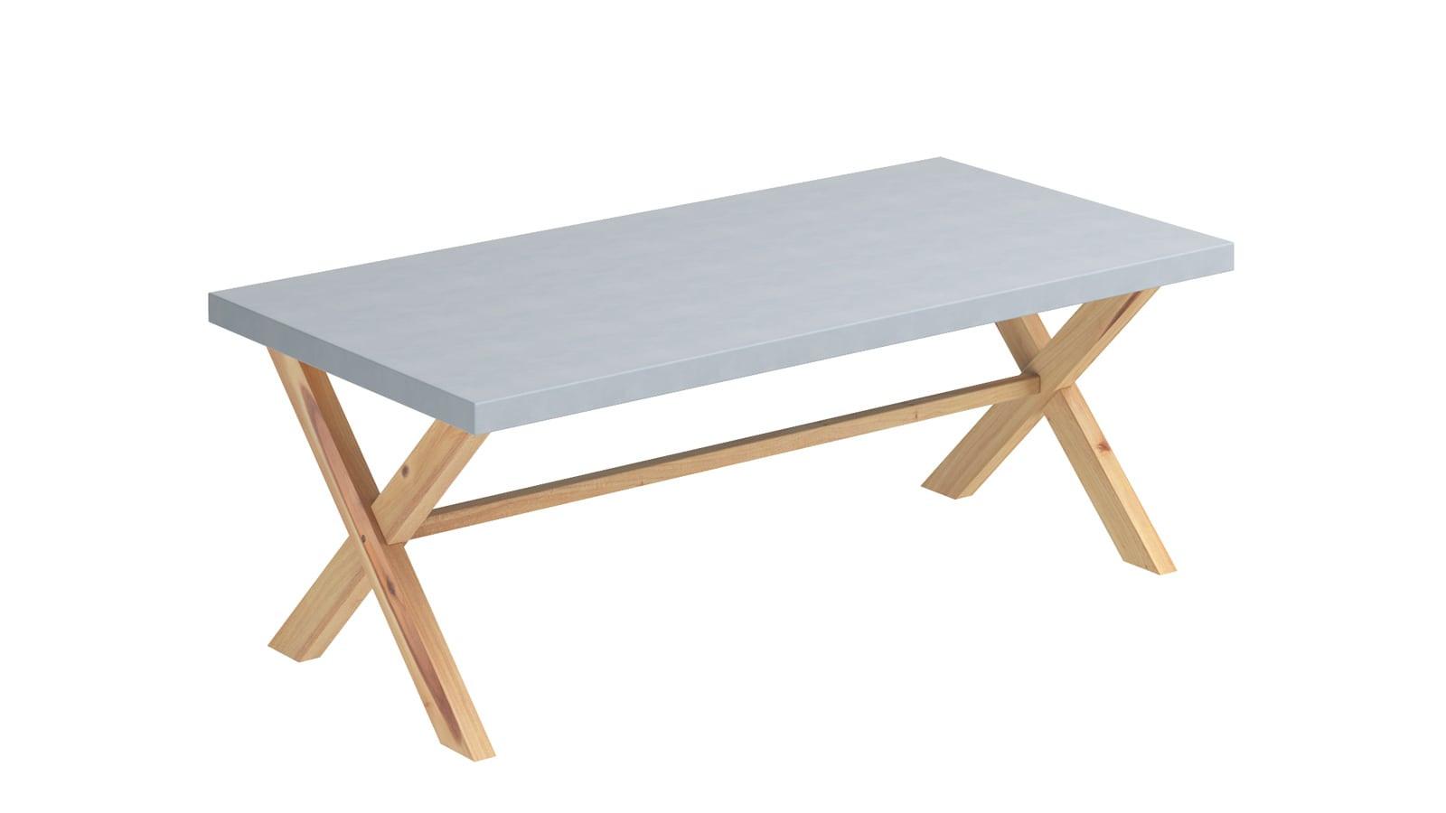 Table de jardin 8 personnes en fibre de ciment