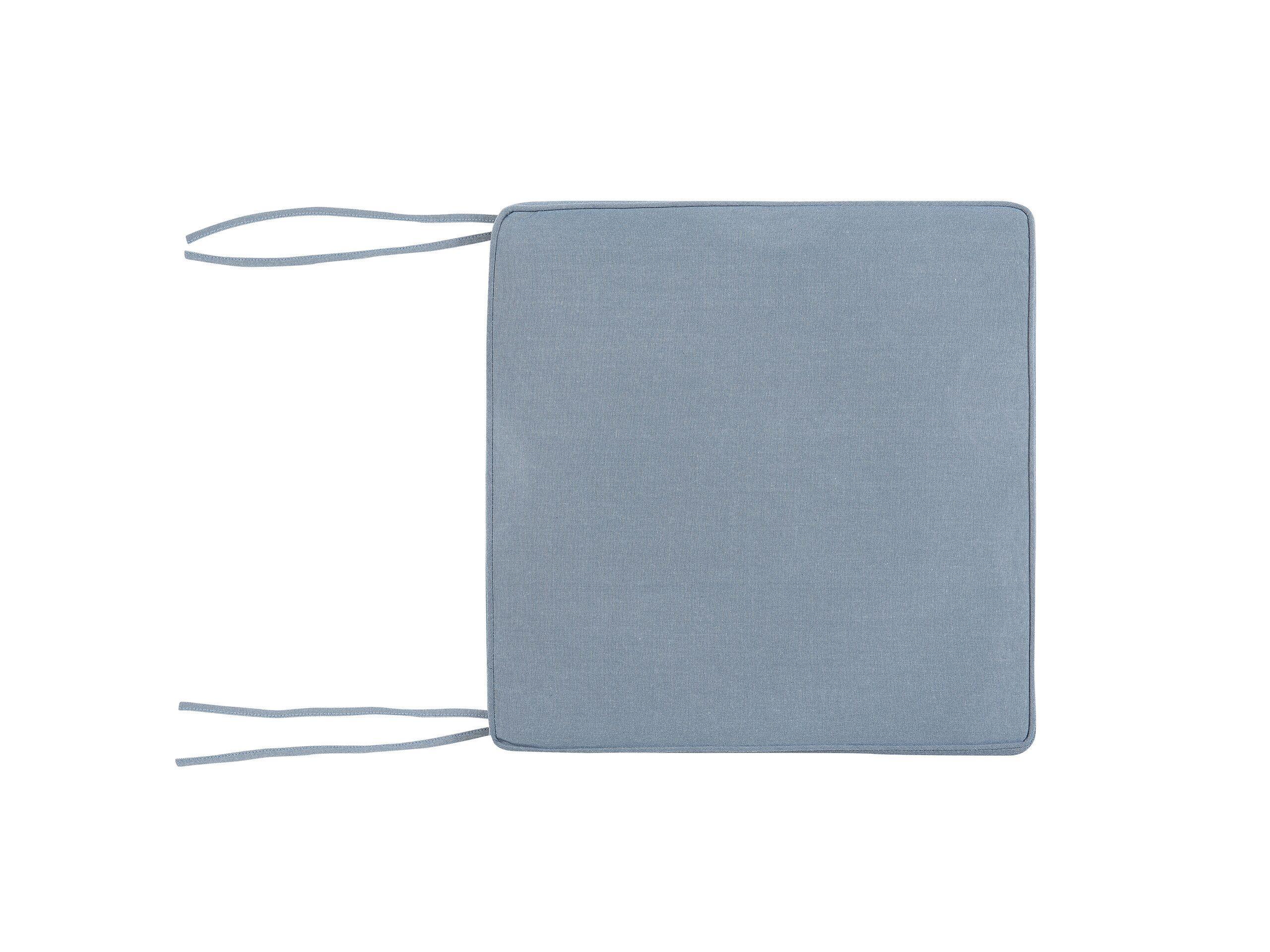 Coussin bleu pour chaise 46x46