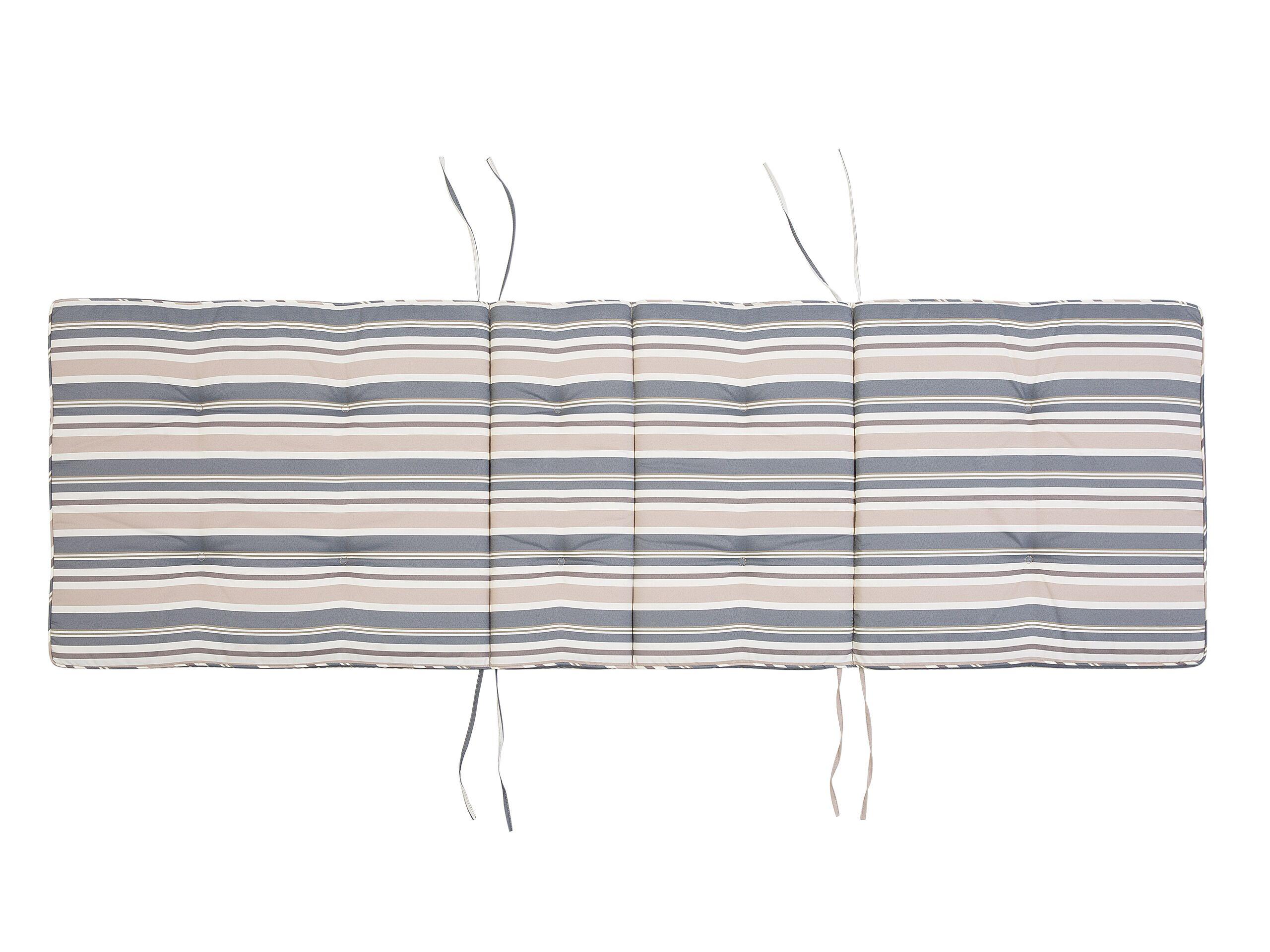 Coussin de transat bleu et beige L188cm