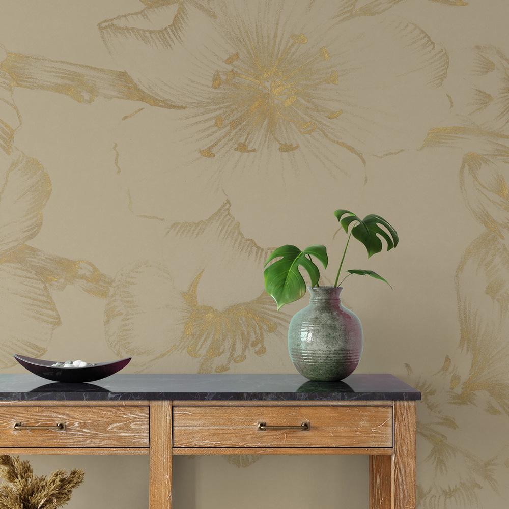 Papier peint panoramique motifs fleurs cerisiers 255x260cm