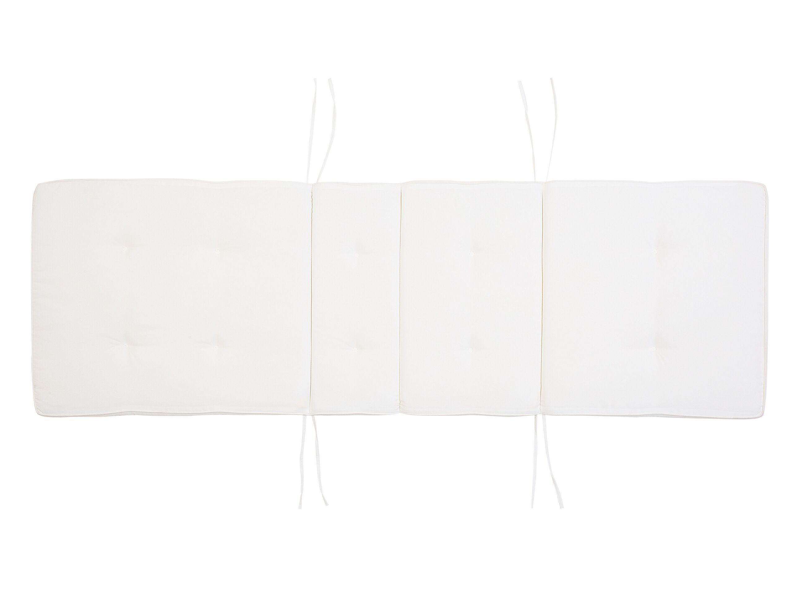 Coussin de transat blanc crème L188cm