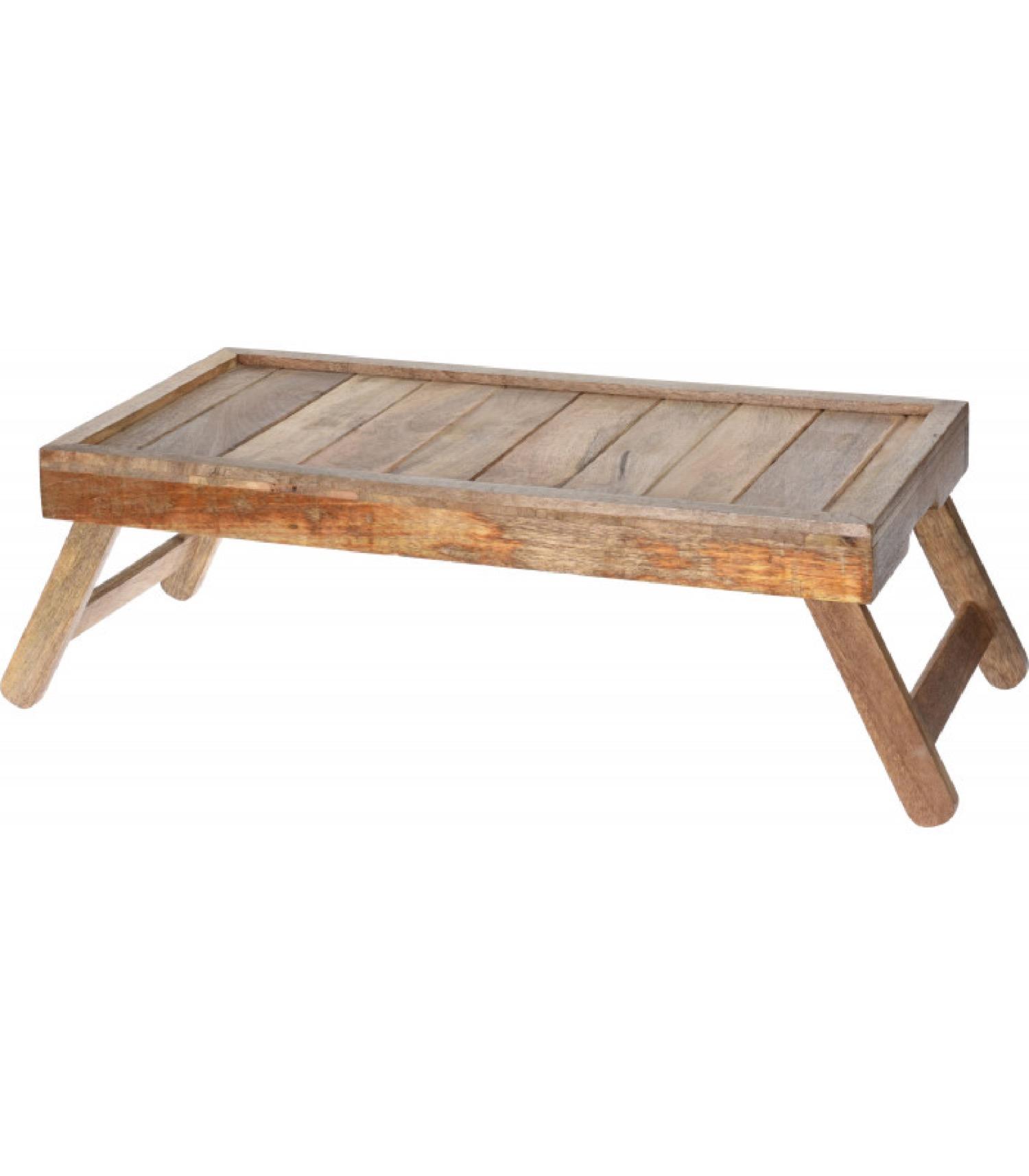 Plateau petit déjeuner au lit en bois