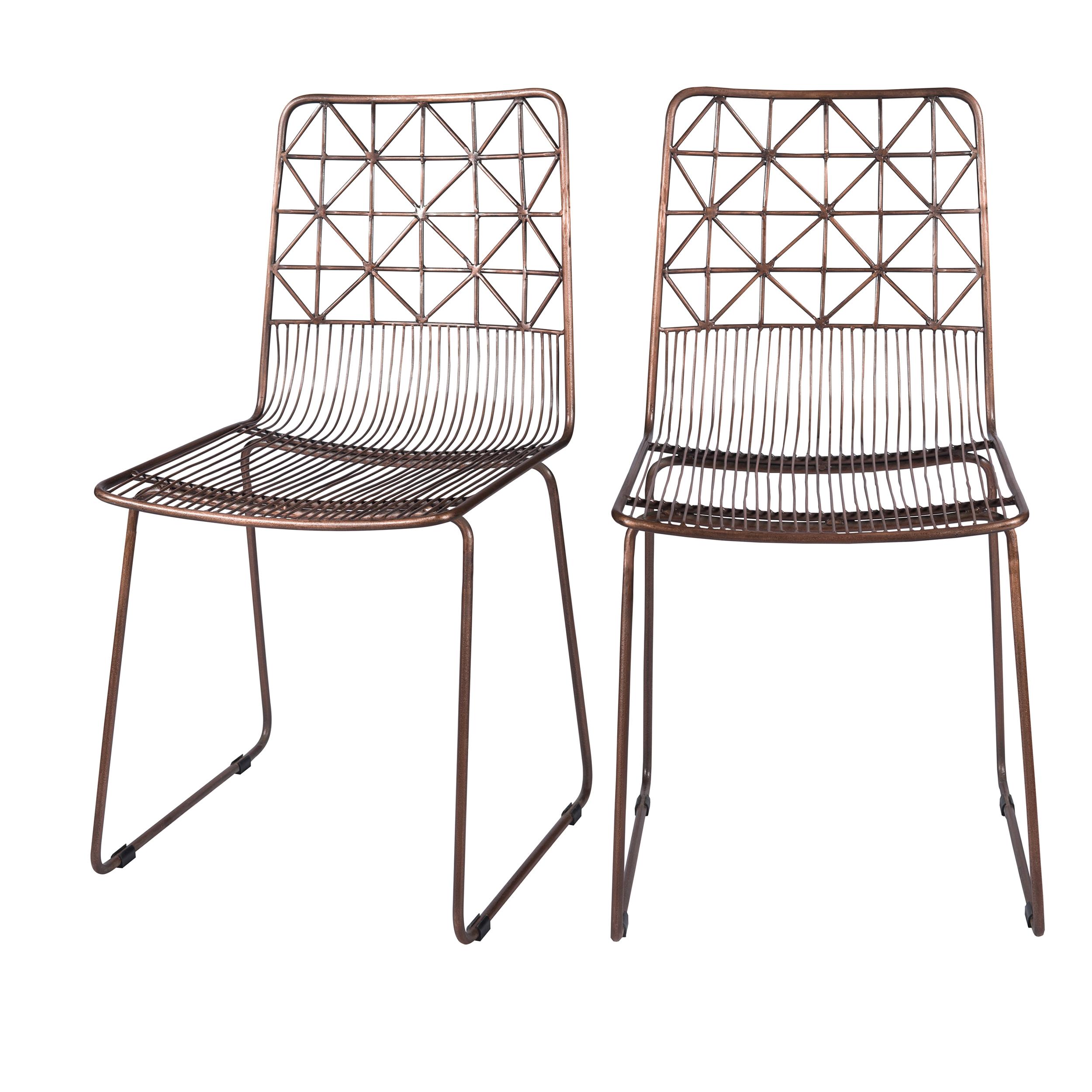 Chaise en métal cuivré (lot de 2)