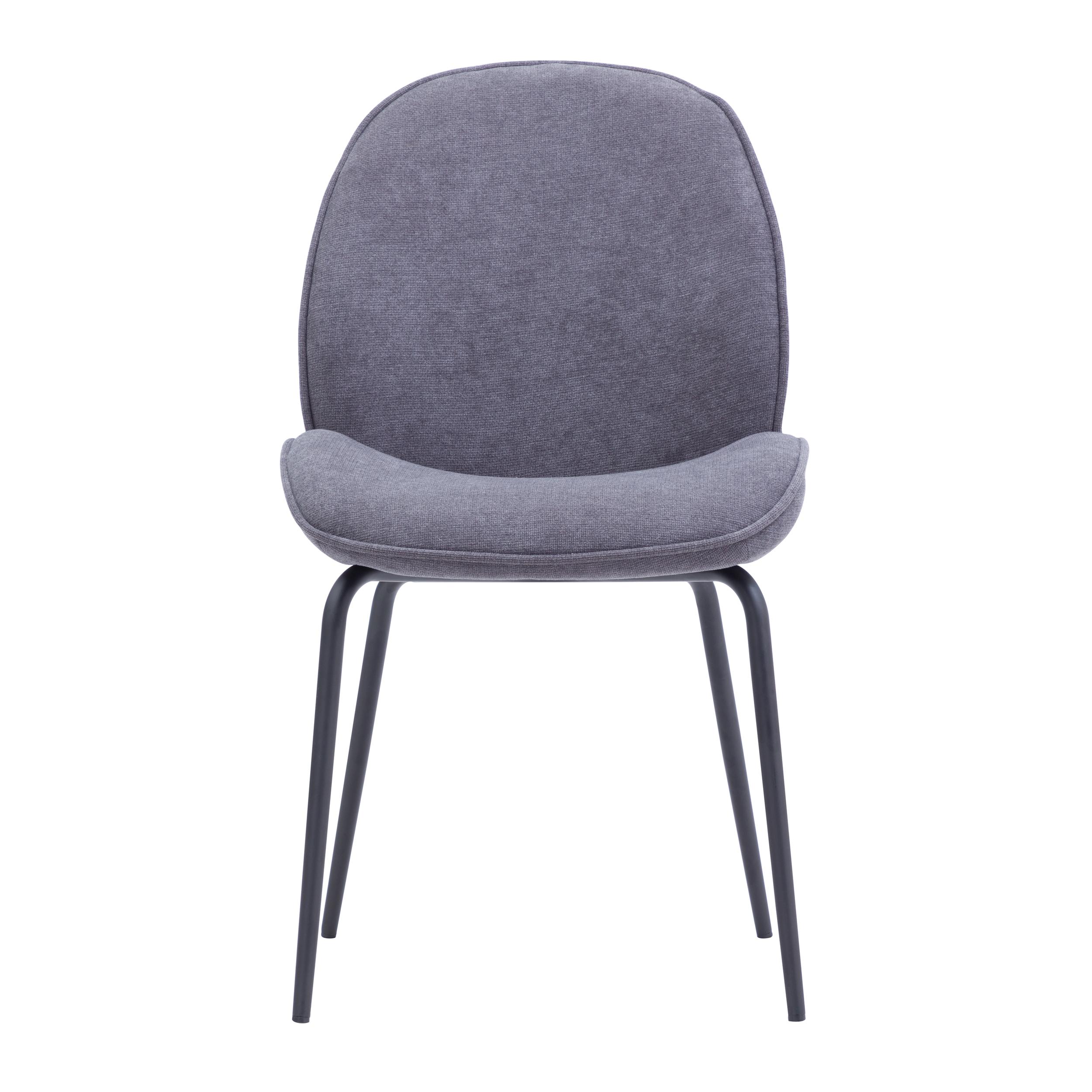 Chaise en tissu gris clair (lot de 2)