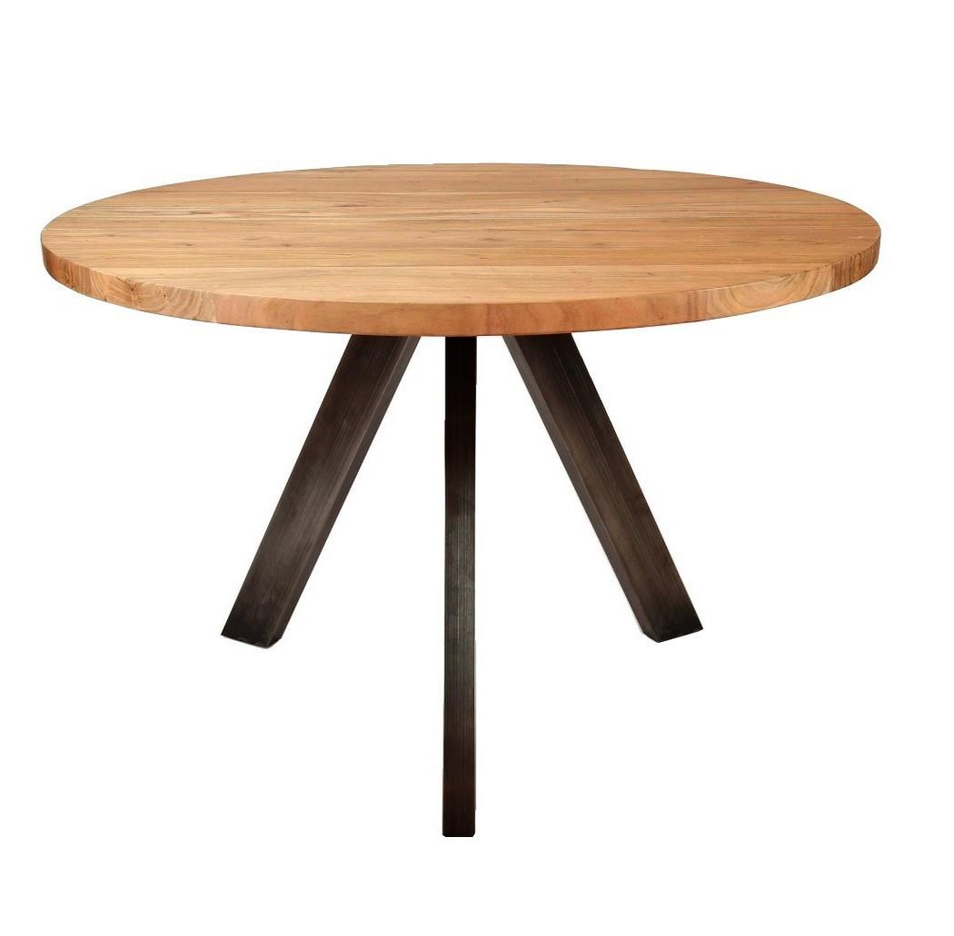 maison du monde Table repas ronde en bois L120