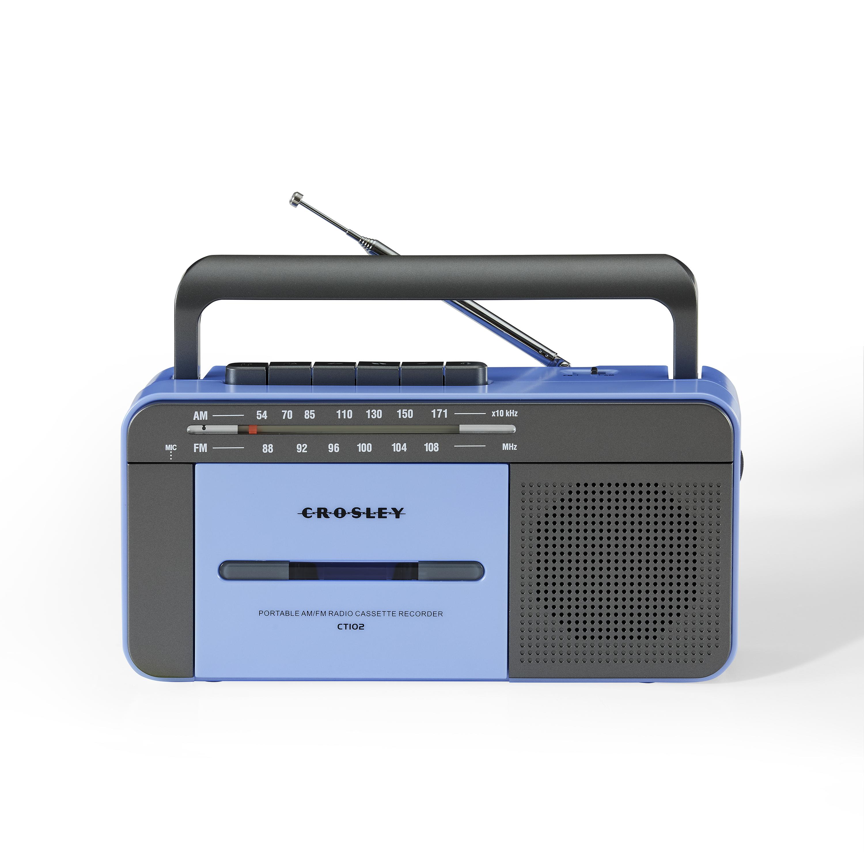 Lecteur de cassettes vintage bleu gris