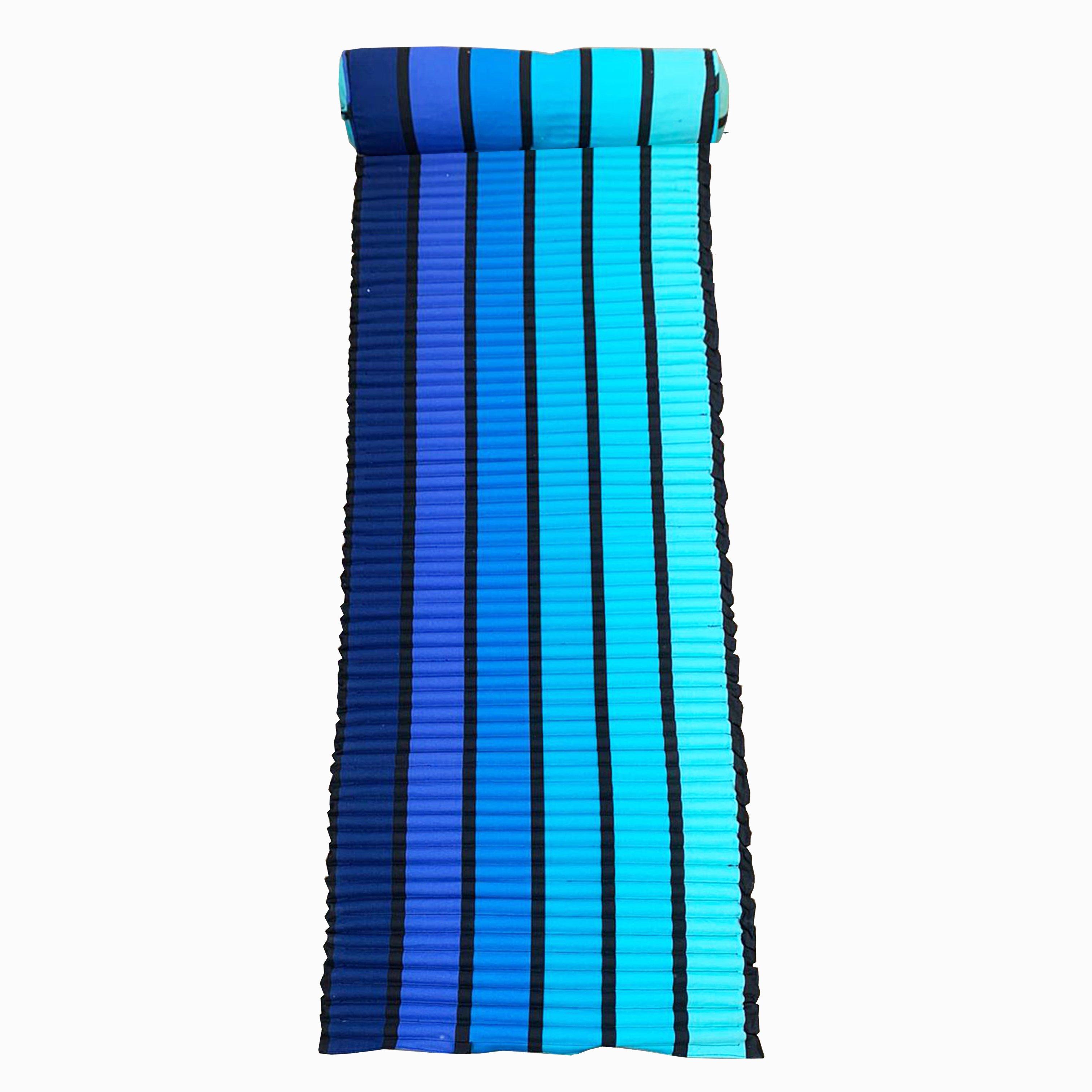 Matelas de plage pour bain de soleil  bleu  happy blue  60 x 180