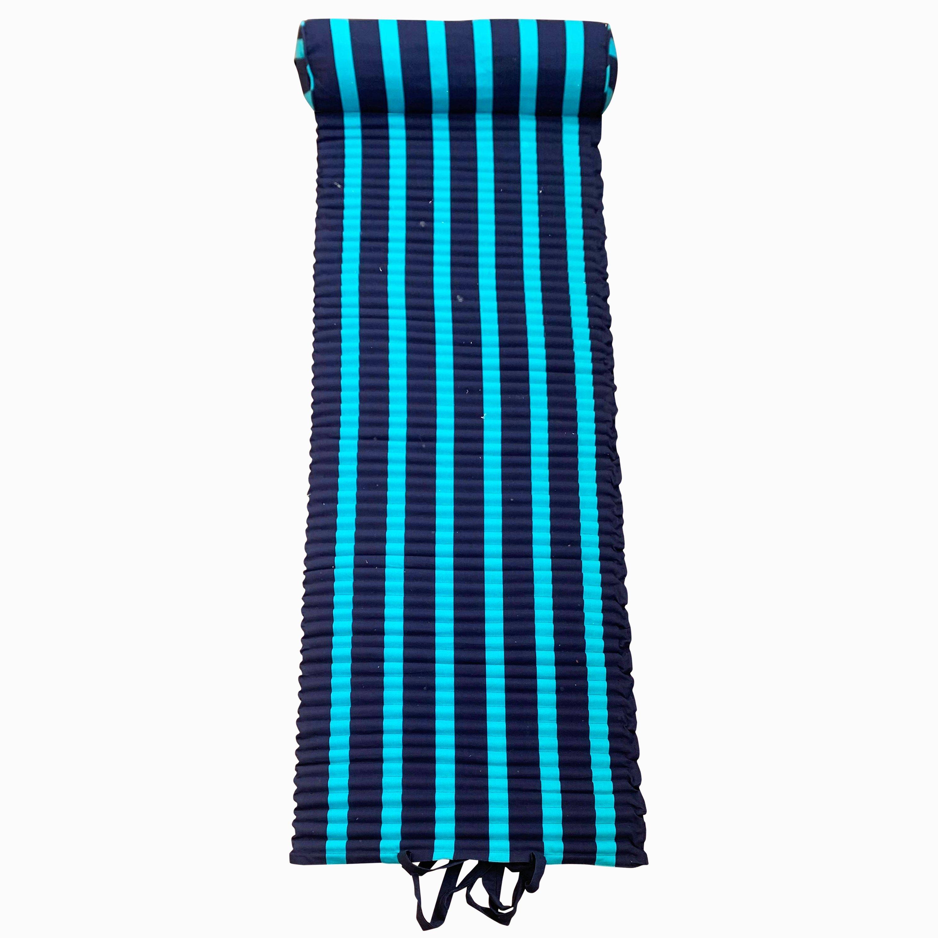 Matelas de plage pour bain de soleil bleu turquoise bahia 60 x 180