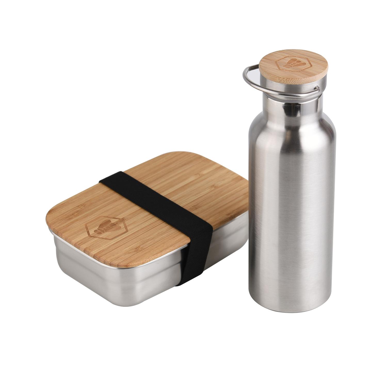 Boîte à lunch et bouteille isotherme