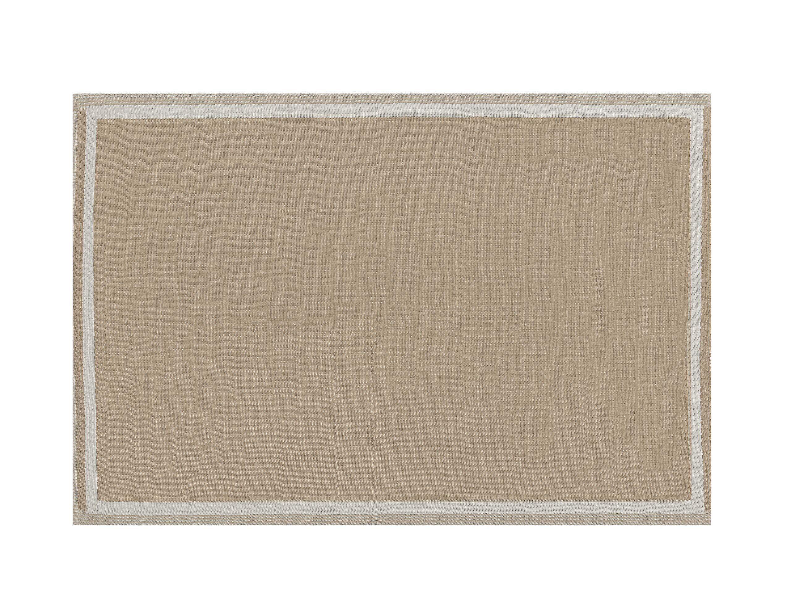Tapis extérieur beige 120 x 180 cm